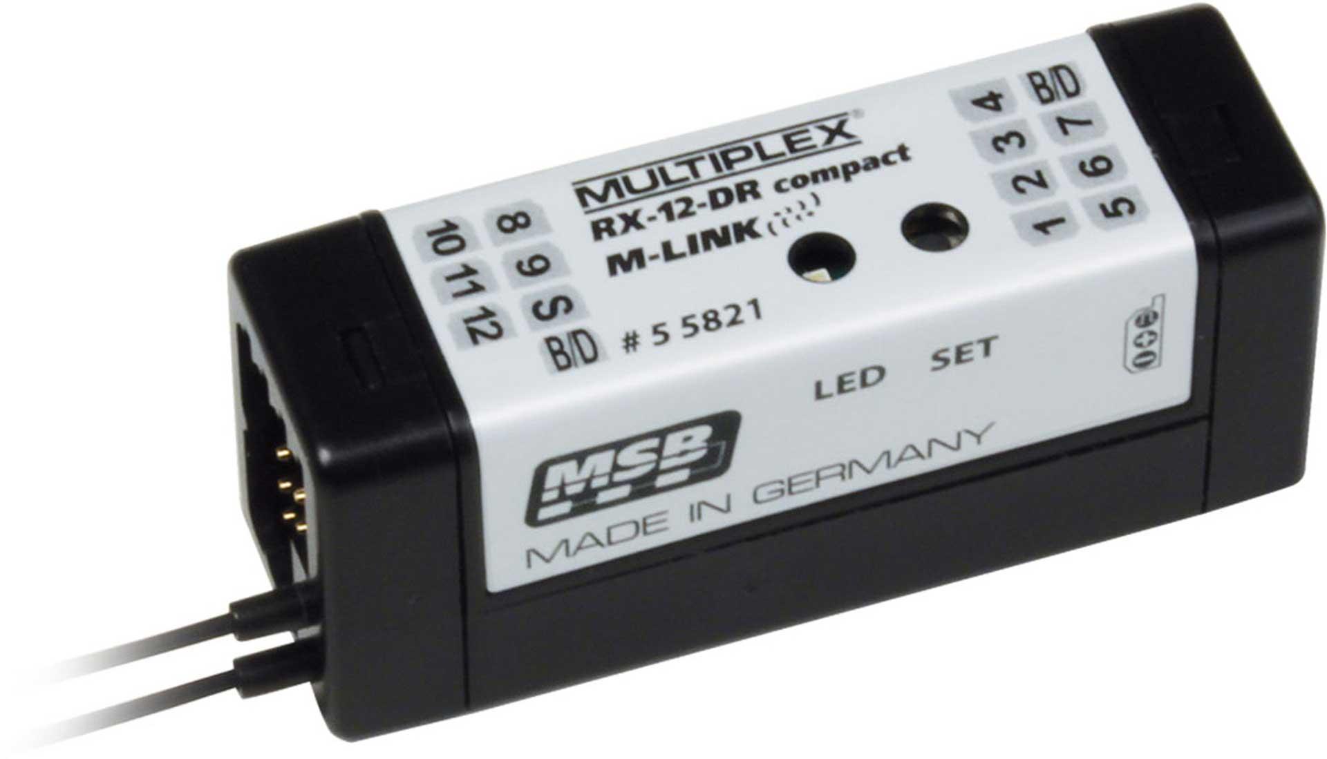 MULTIPLEX RX-12 DR COMPACT 2,4GHZ M-LINK EMPFÄNGER