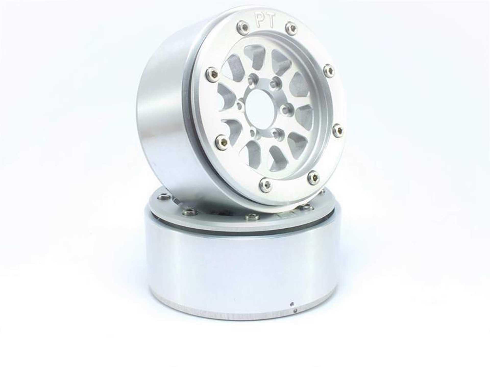 Metsafil Beadlock Wheels GEAR silber/silber 1.9 (2 St.) ohne Radnabe