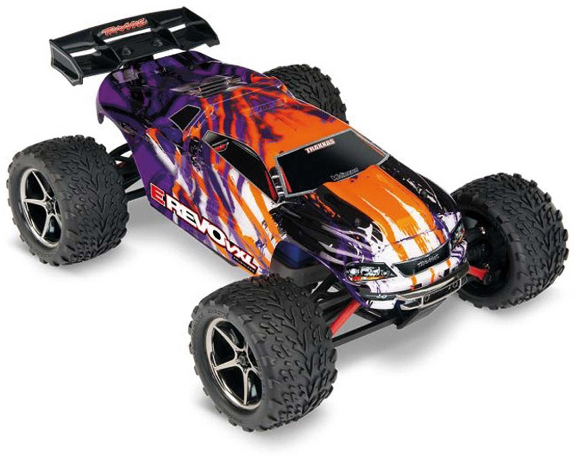 TRAXXAS E-REVO 4X4 VXL PURBLE RTR RACING TRUCK 1/16 BRUSHLESS INCL. 12V CHARGER + RECHARGEABLE BATTERY
