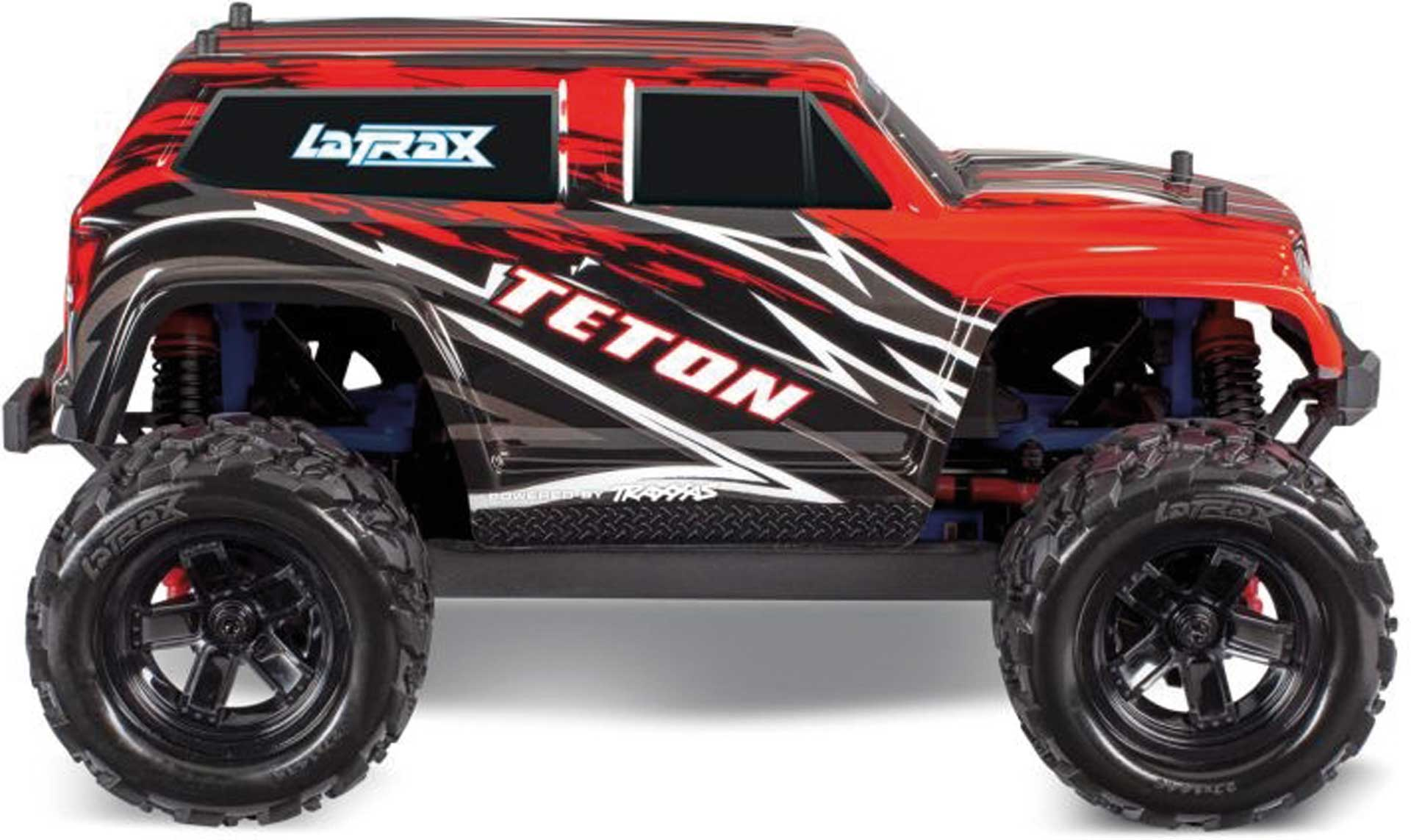 Traxxas TETON 4X4 ROTX RTR +12V-LADER+AKKU 1/18 4WD MONSTER TRUCK BRUSHED