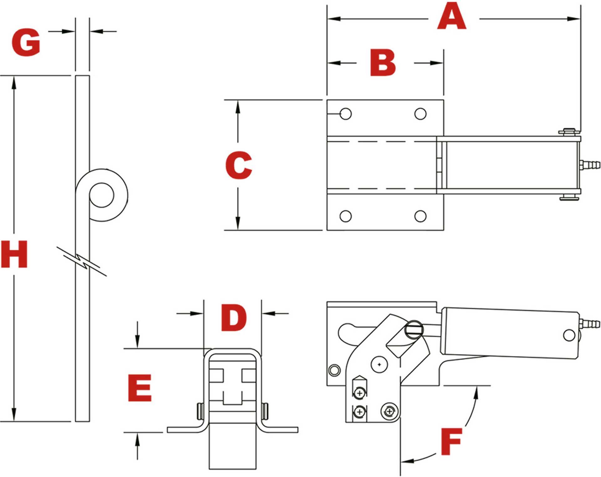 EUROKIT RETRACTABLE UNDERCARRIAGE MECHANICAL 3-LEG -5KG