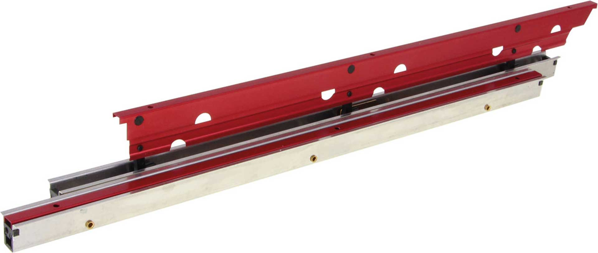 MODELLBAU LINDINGER FLAPS 37CM/16MM RED ANODISED ALUMINIUM INTERNALLY HINGED, SPOILERS