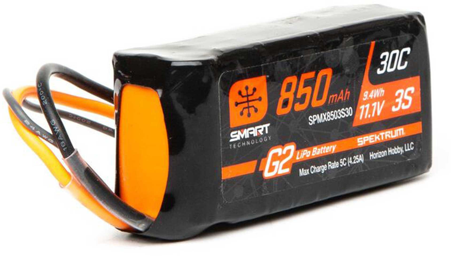 SPEKTRUM 850mah 3S 11,1V Smart G2 Lipo; IC2