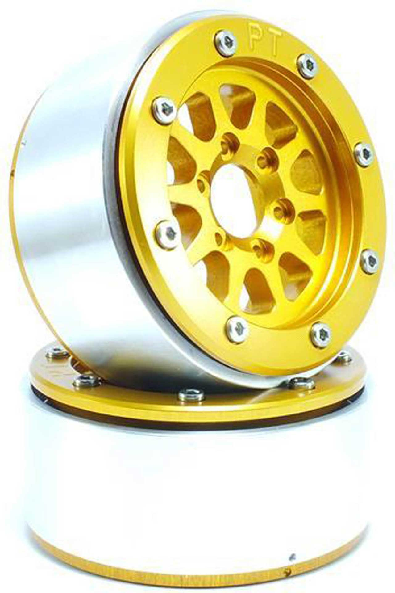 Metsafil Beadlock Wheels GEAR gold/gold 1.9 (2 St.) ohne Radnabe