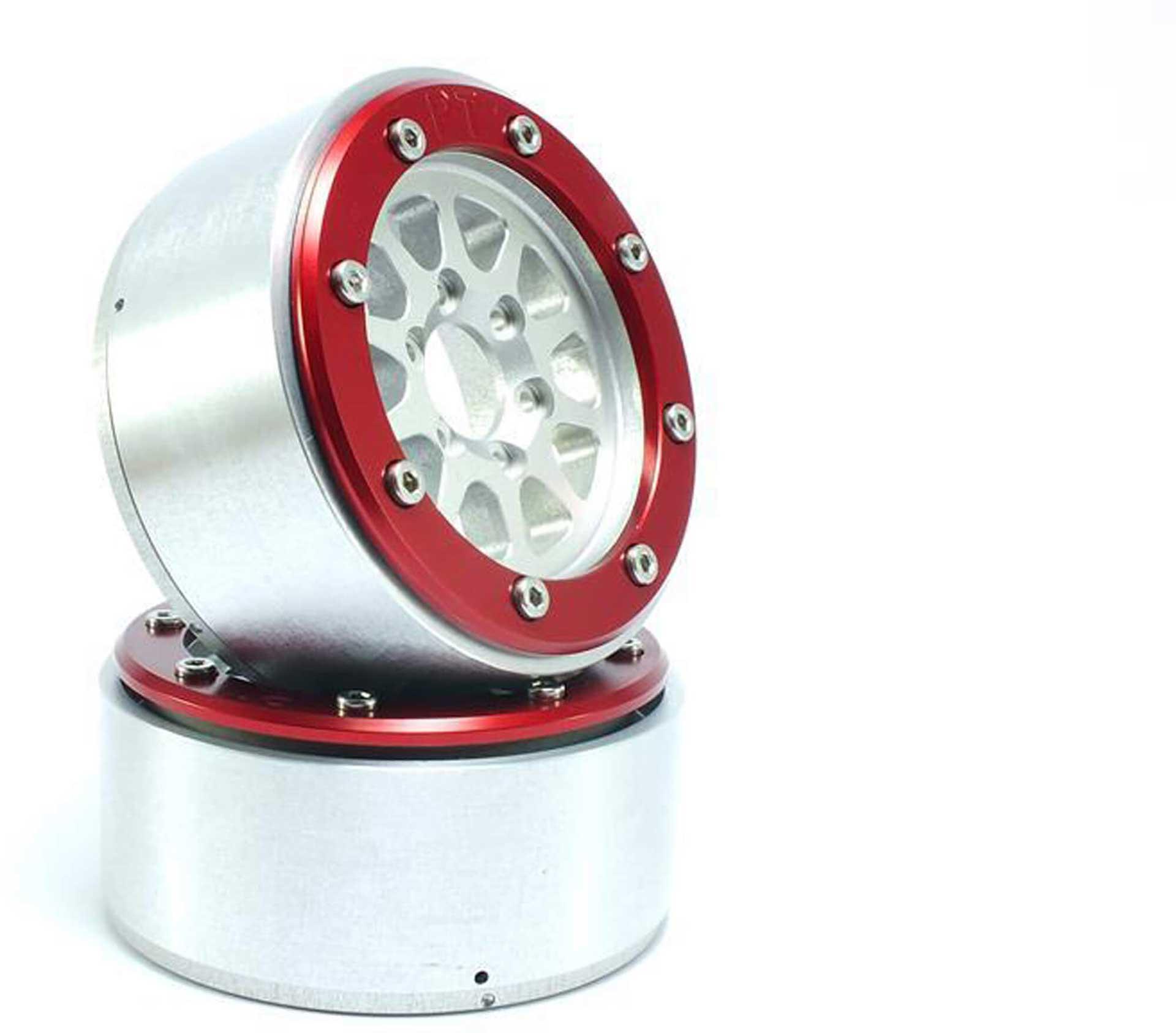 Metsafil Beadlock Wheels GEAR silber/rot 1.9 (2 St.) ohne Radnabe