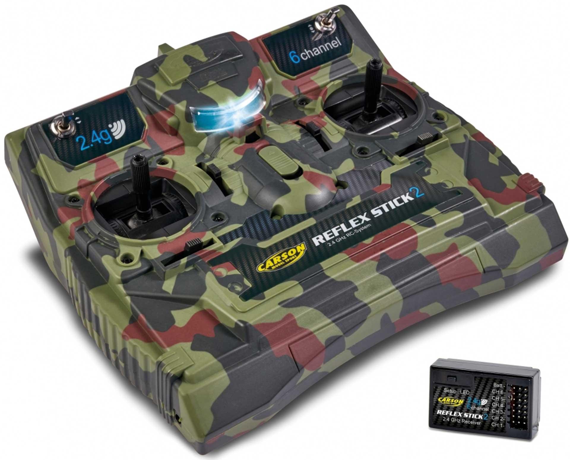 CARSON FS Reflex Stick II 2.4GHz 6CH Camouflage Fernsteuerung