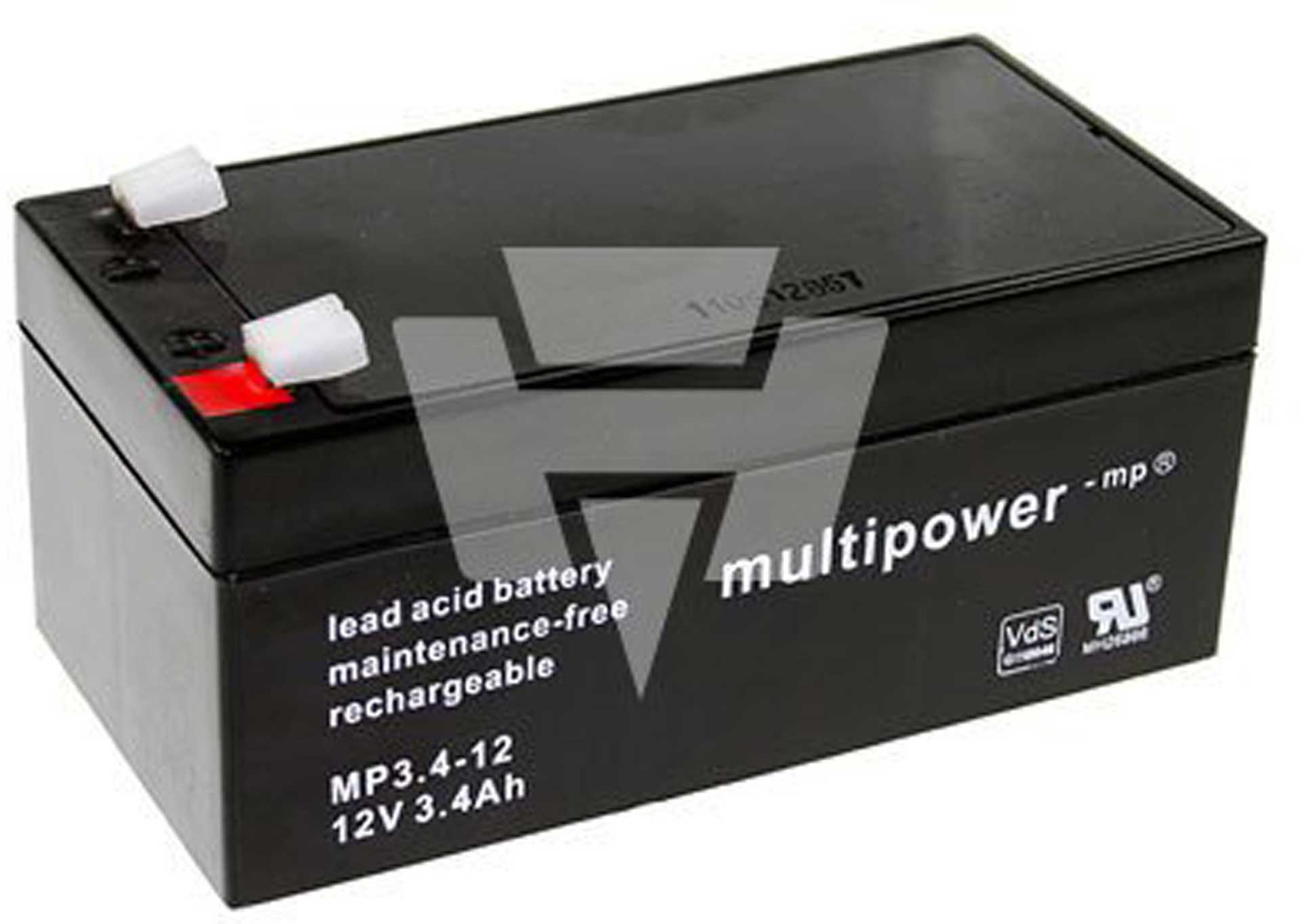 MULTIPOWER Lead acid battery MP3, 4-12 PB12V 3,4AH