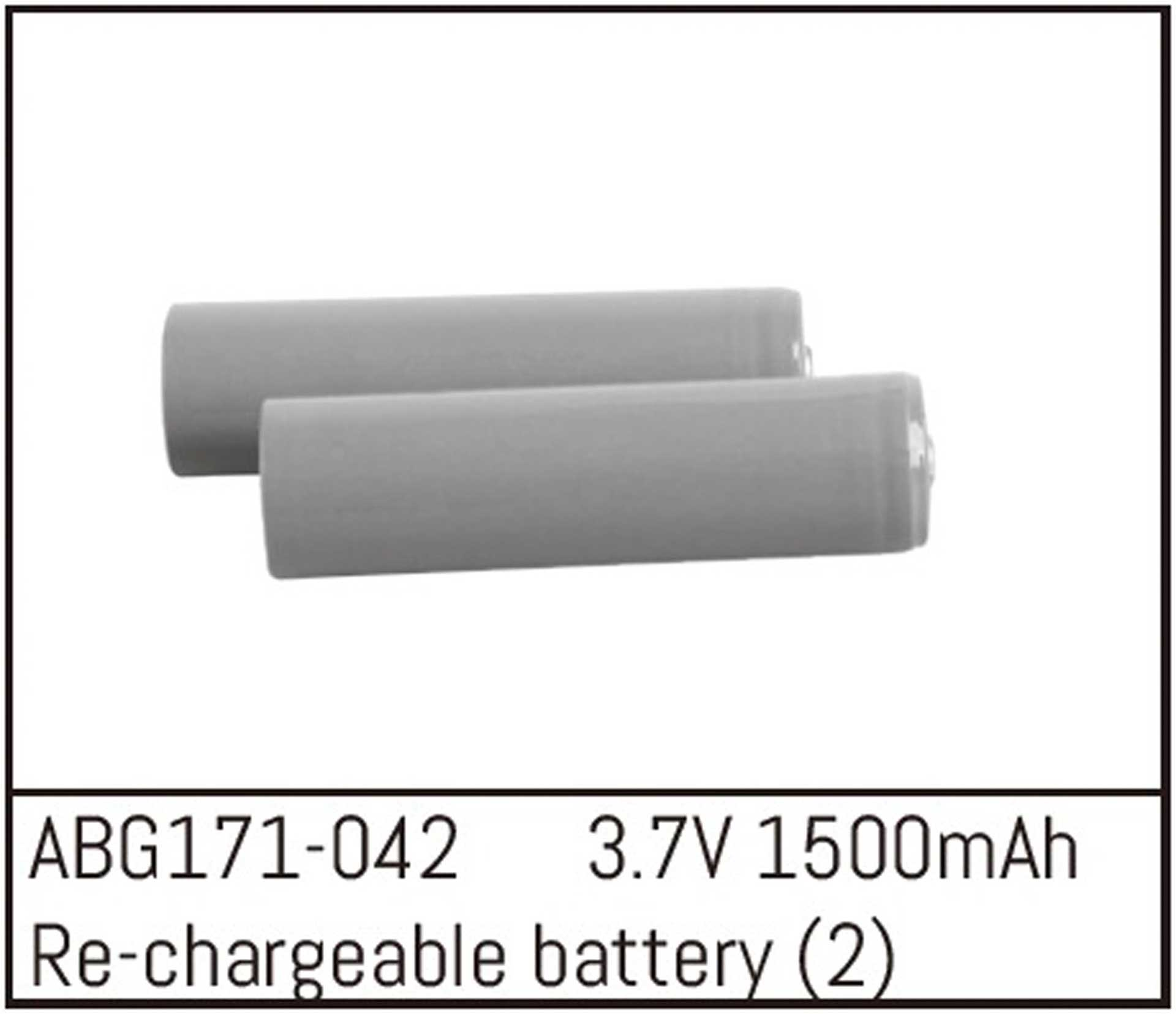 ABSIMA Ersatzakkus Li-Ion 3,7V 1500mah (2) für Absima 1:14 Serie