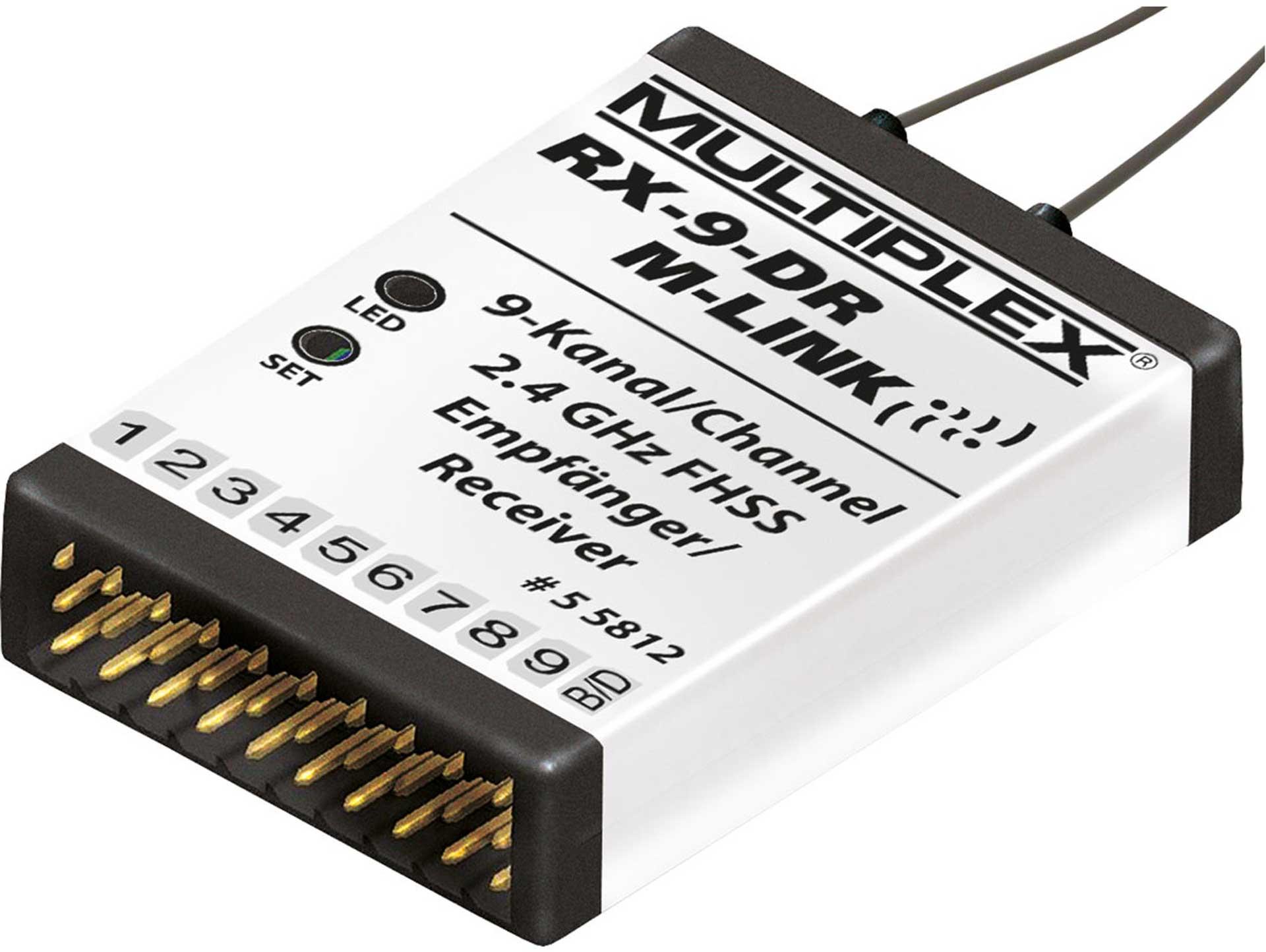 MULTIPLEX RX-9 DR 2.4GHZ M-LINK RECEIVER MPX