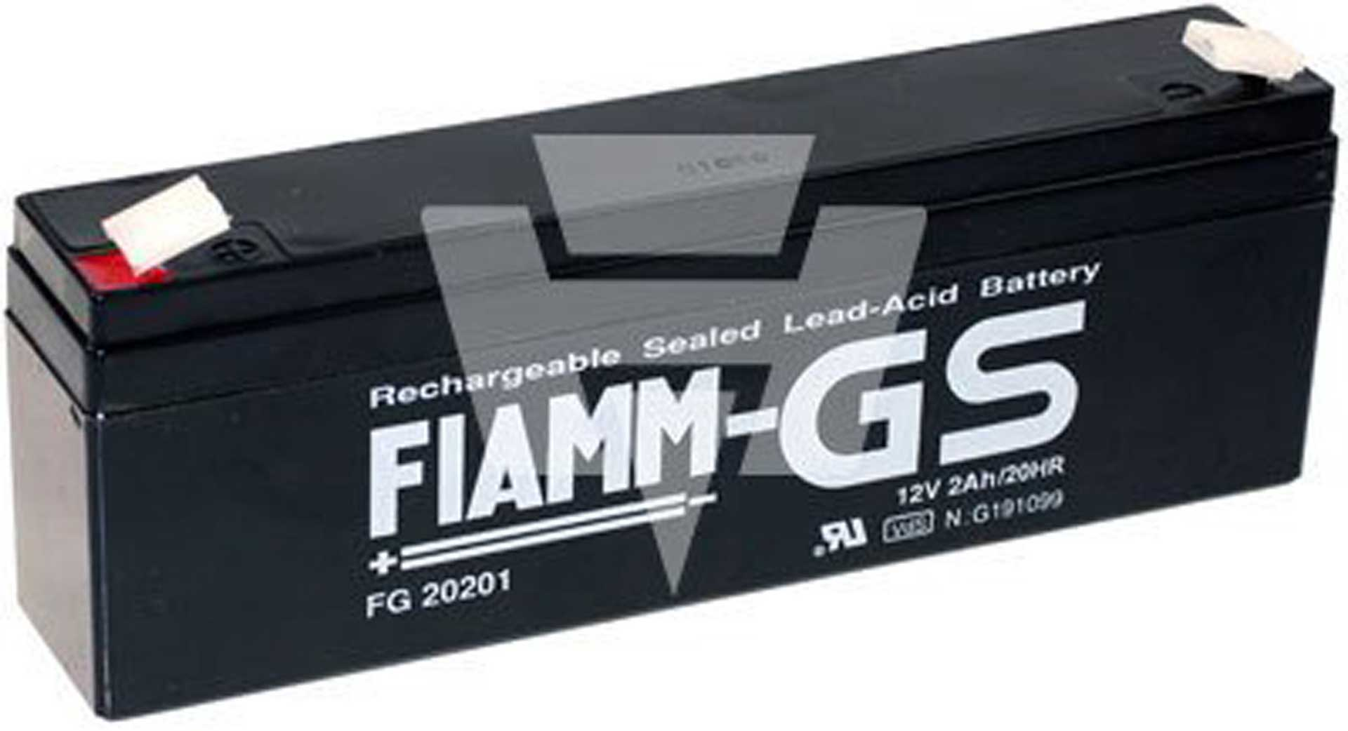 FIAMM LEAD-ACID BATTERY FG20201 12V/2AH PB FASTON 4.8