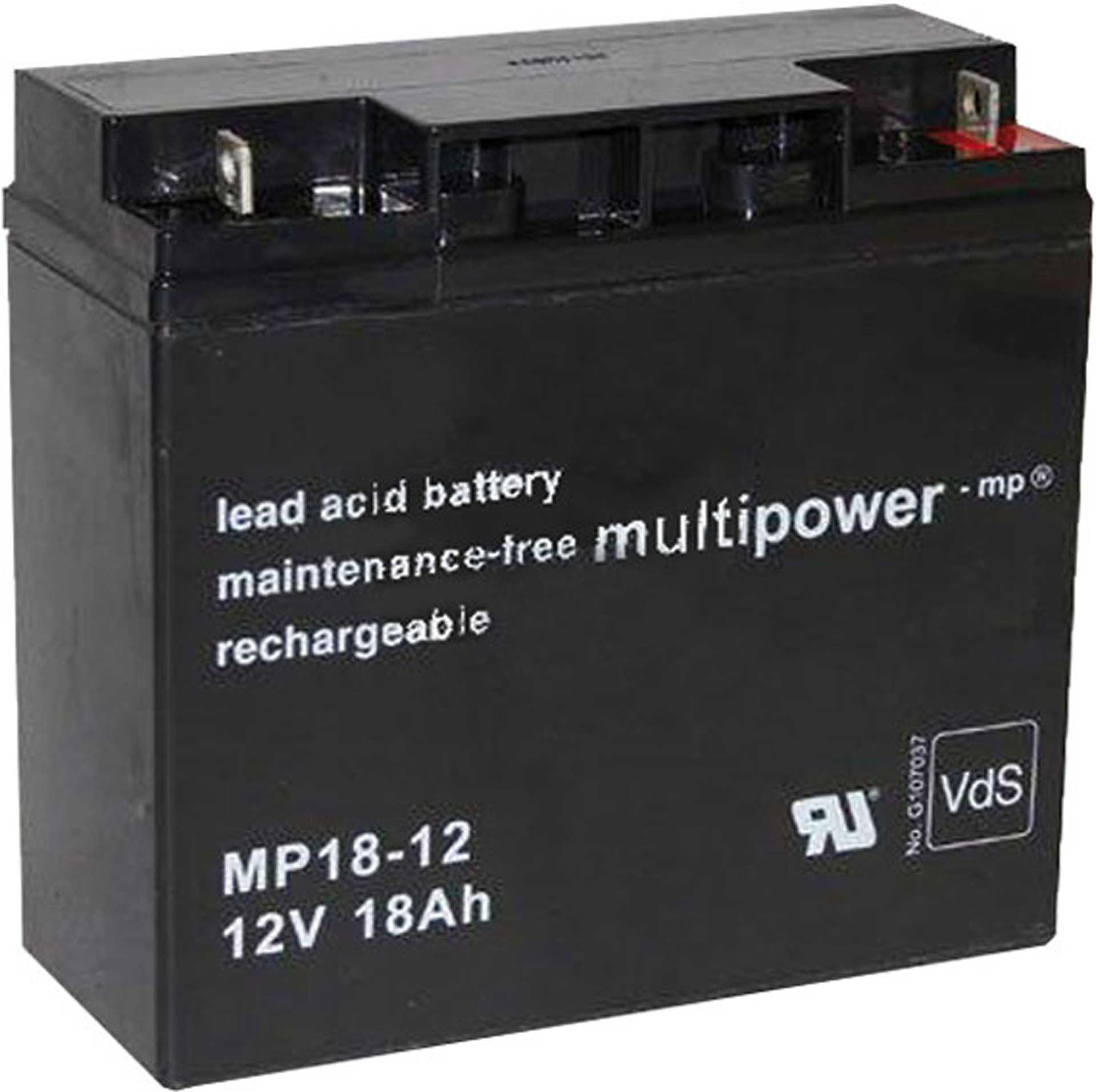 MULTIPOWER LEAD ACID BATTERY 12V/18AH PB