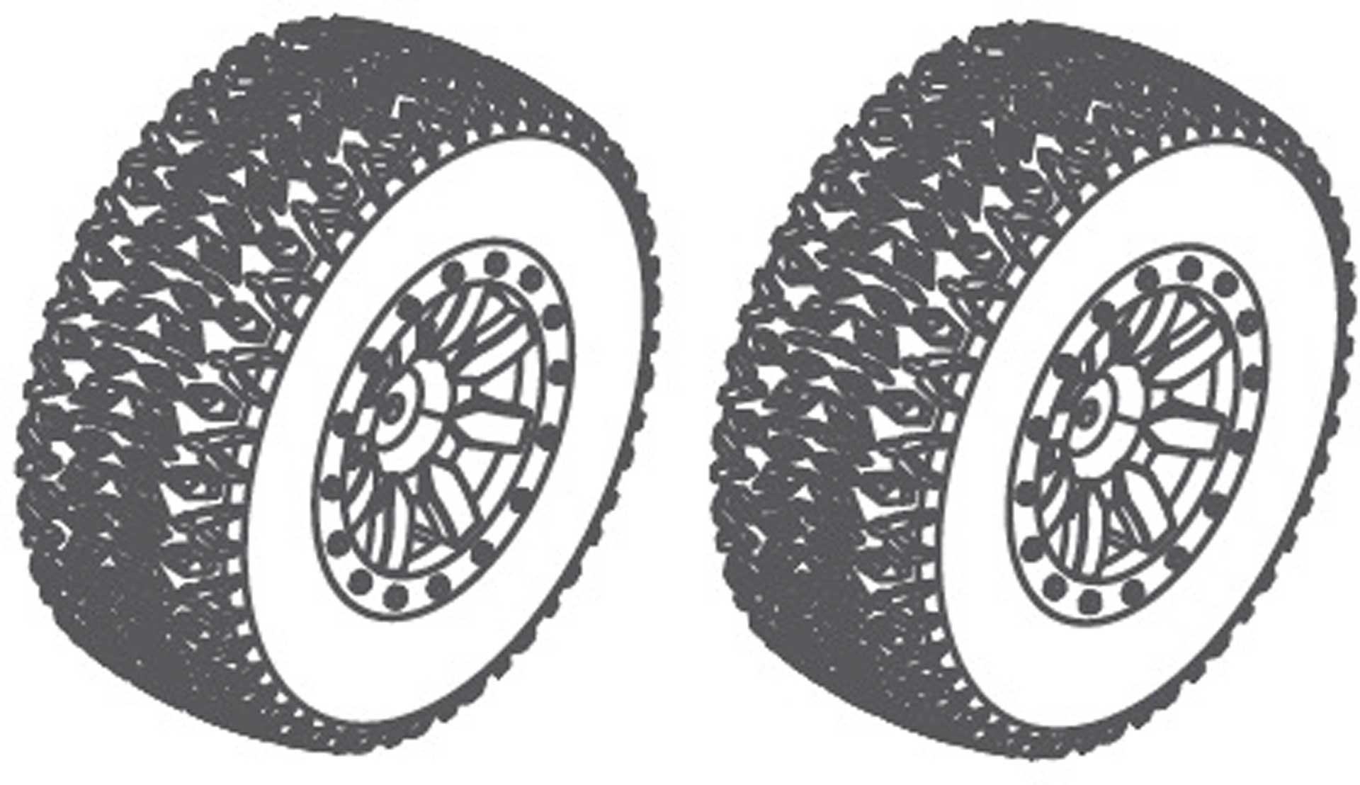 Absima Räderset 110x45mm - Grün (2 St.)
