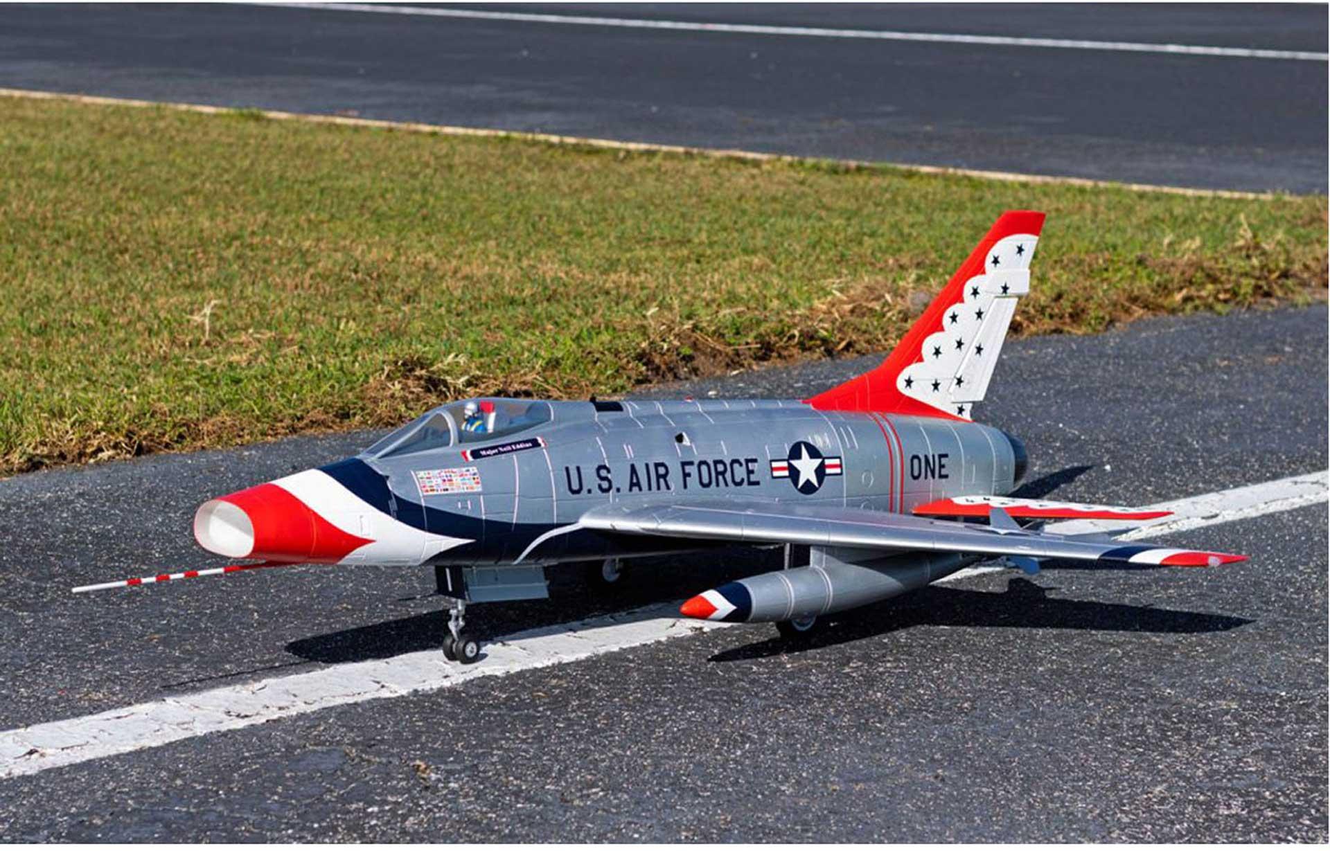 PREMIER AIRCRAFT F-100D SILBER E-IMPELLER JET