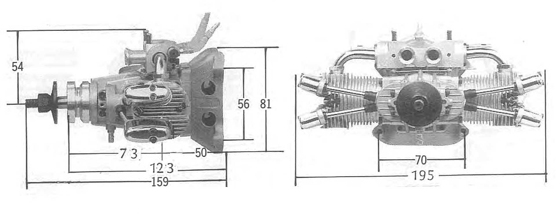 SAITO FA-182TD 2-ZYLINDER BOXER MOTOR