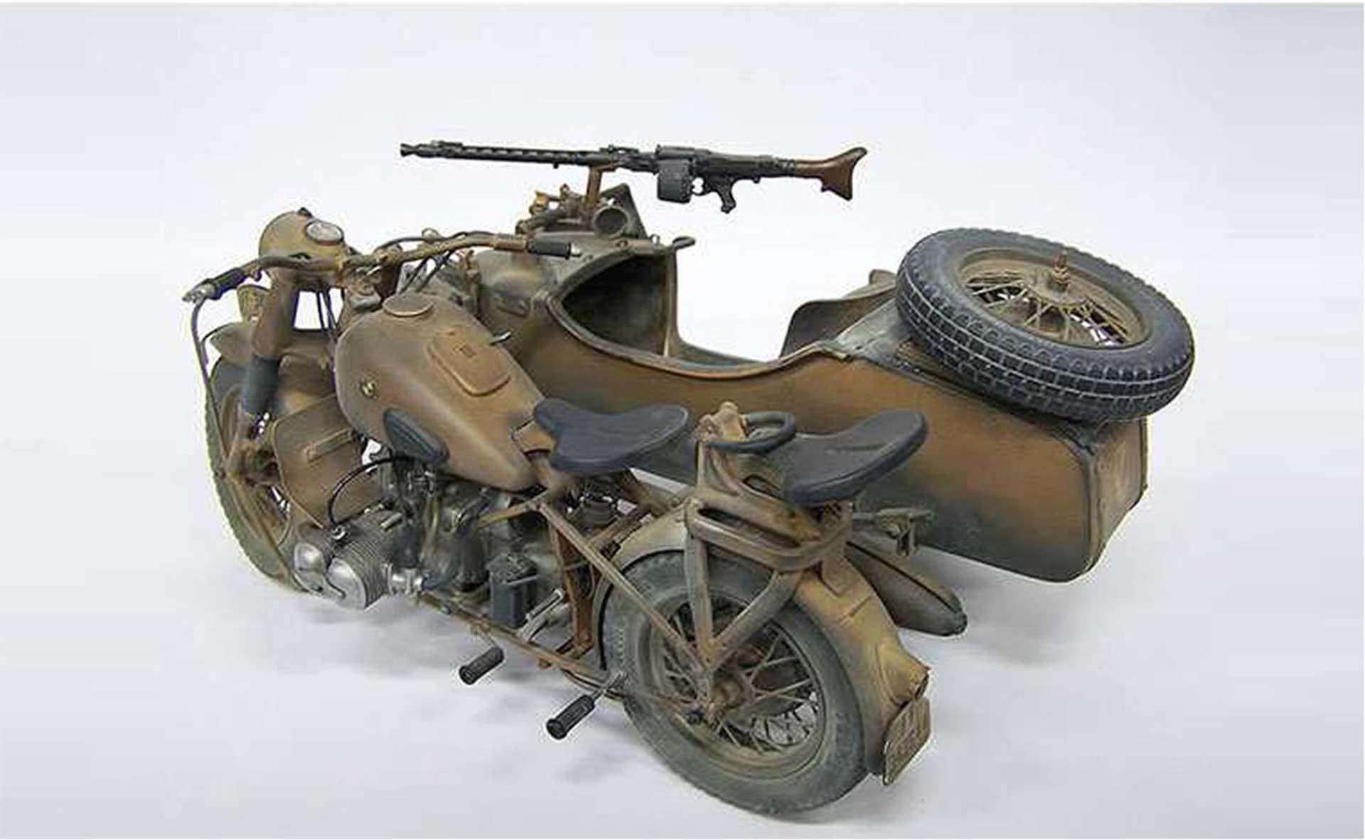 ITALERI 1:9 BMW R75 GERMAN MILIT.MOTOR.W/SIDECAR PLASTIC CONSTRUCTION KIT