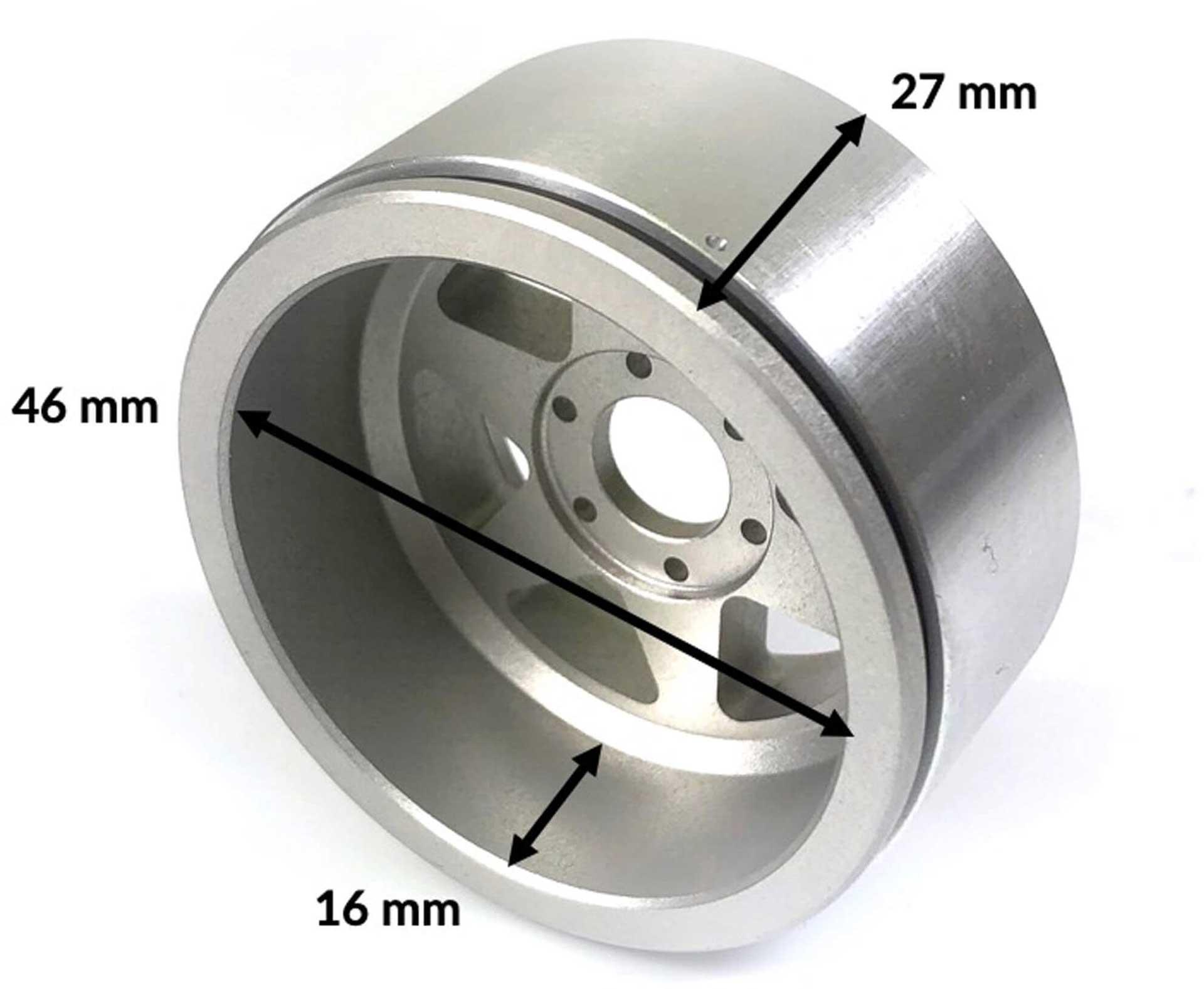 Metsafil Beadlock Wheels HAMMER schwarz/rot 1.9 (2 St.) ohne Radnabe