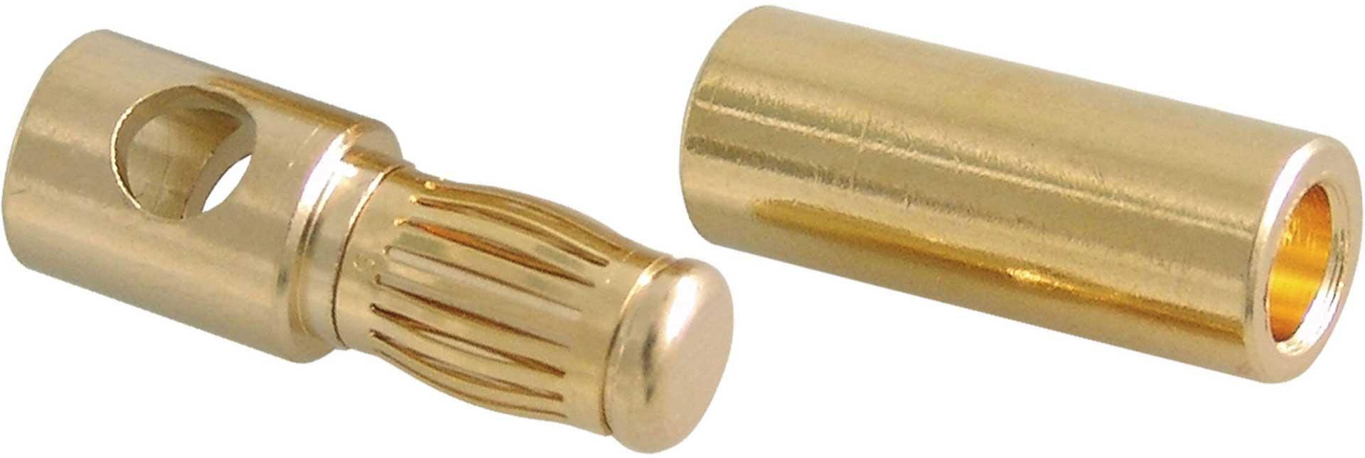 MODELLBAU LINDINGER GOLDKONTAKT-STECKER 5,4MM PROFI 1 PAAR