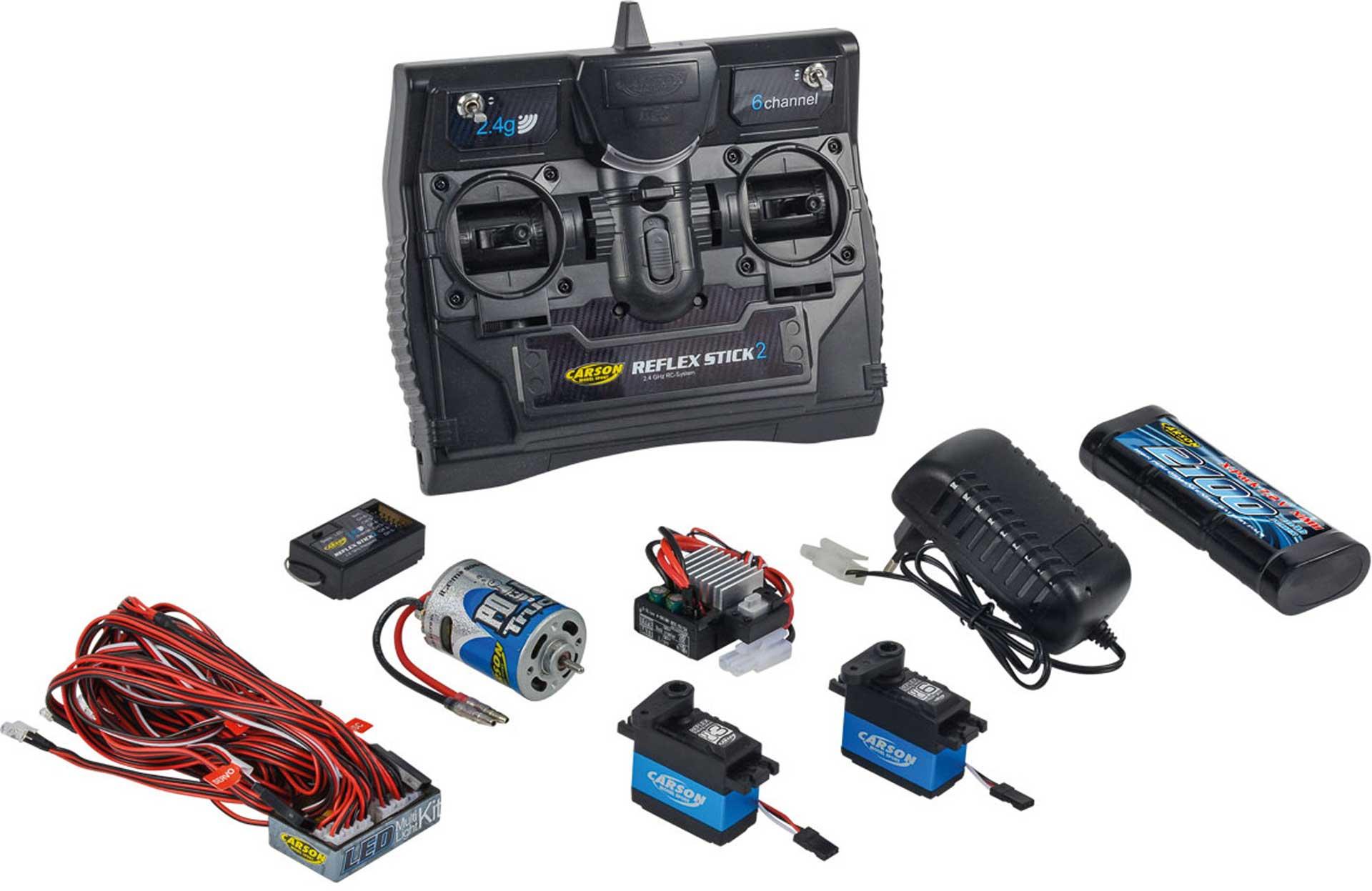 CARSON REFLEX STICK TRUCK-SET 2.4G 6 KANAL 2,4Ghz FERNSTEUERUNG
