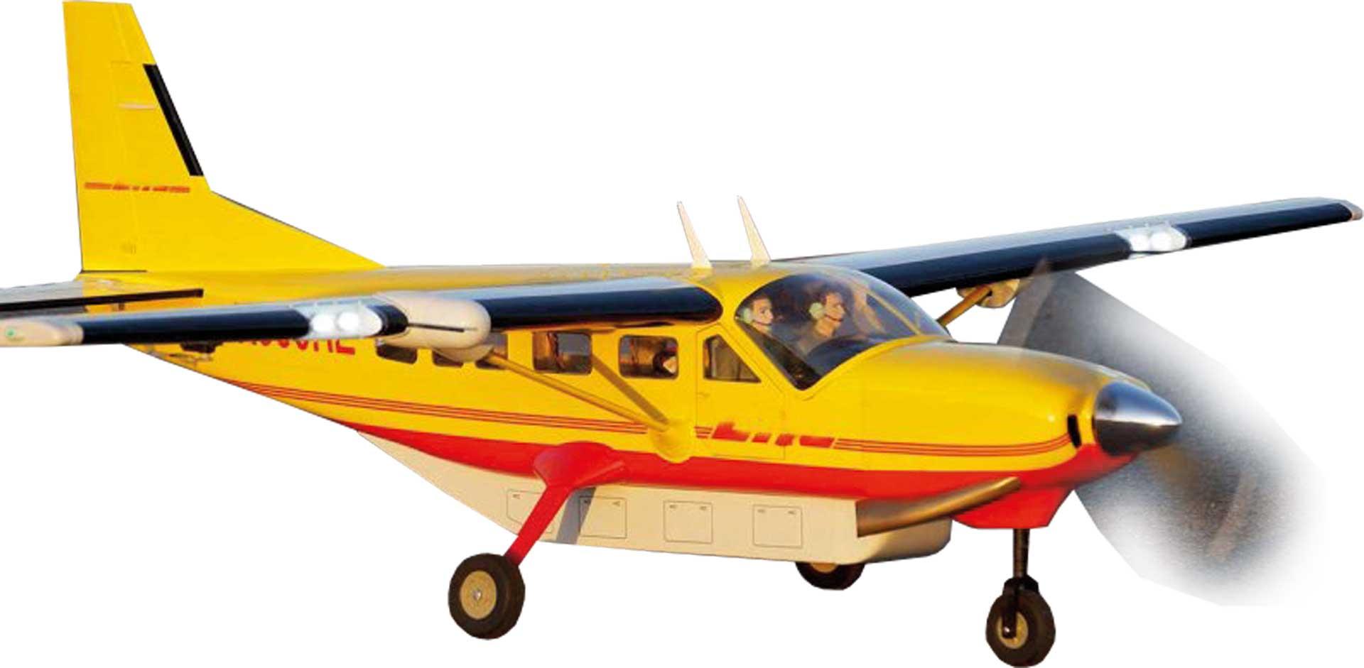VQ Models Cessna 208 Grand Caravan (gelb) / 1650mm ARF