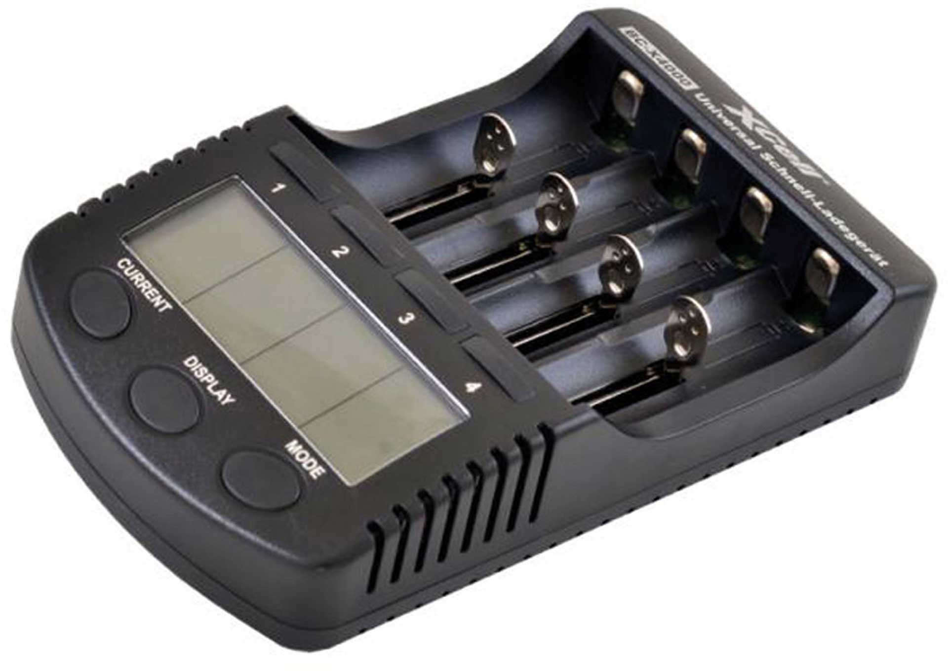 XCELL BC-X4000 SCHNELLADEGERÄT FÜR AA/AAA/C/SC