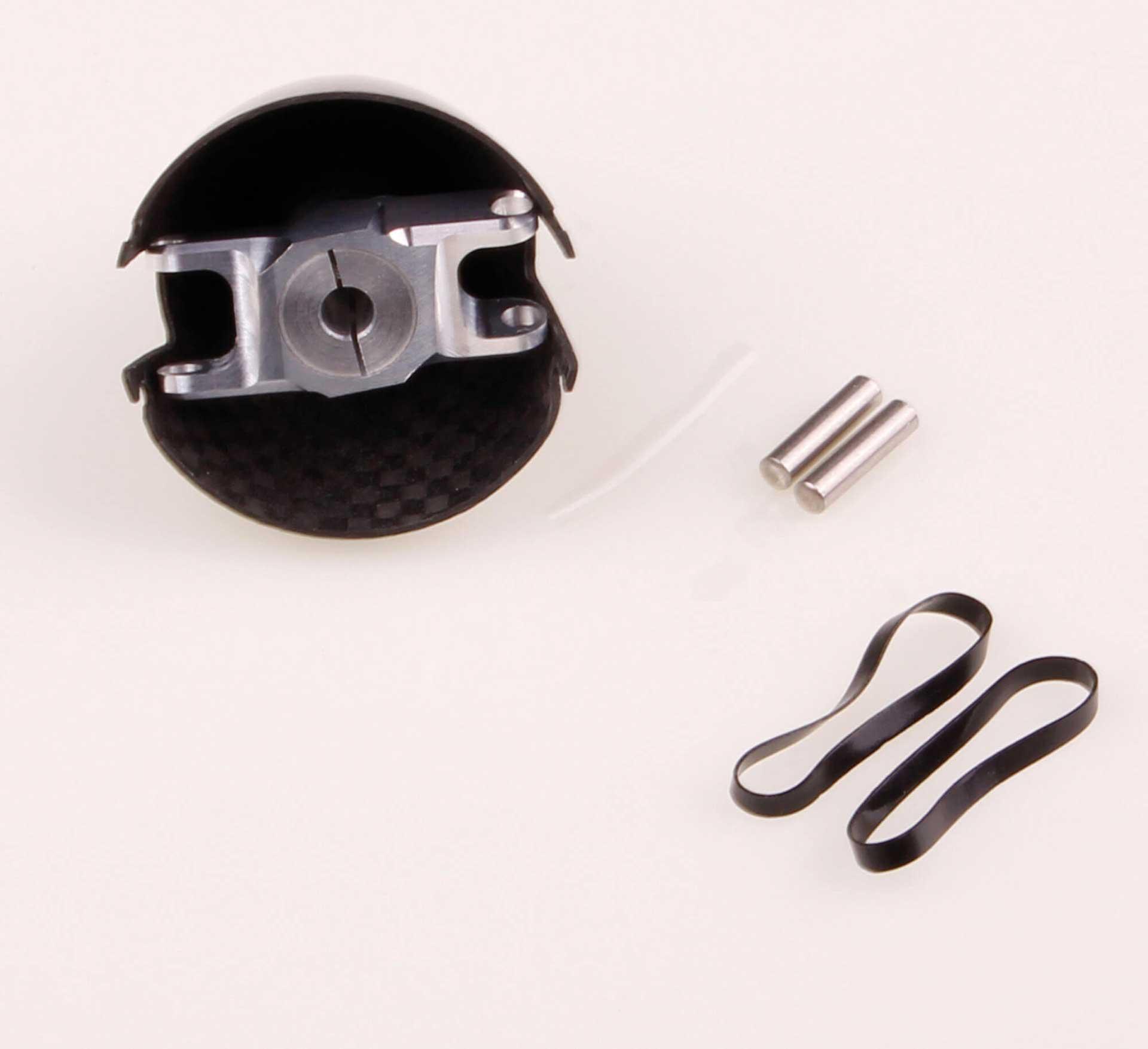 GM Propellers Spinner F5J ø 36mm Diameter, motor shaft ø 5mm Competition Carbon black