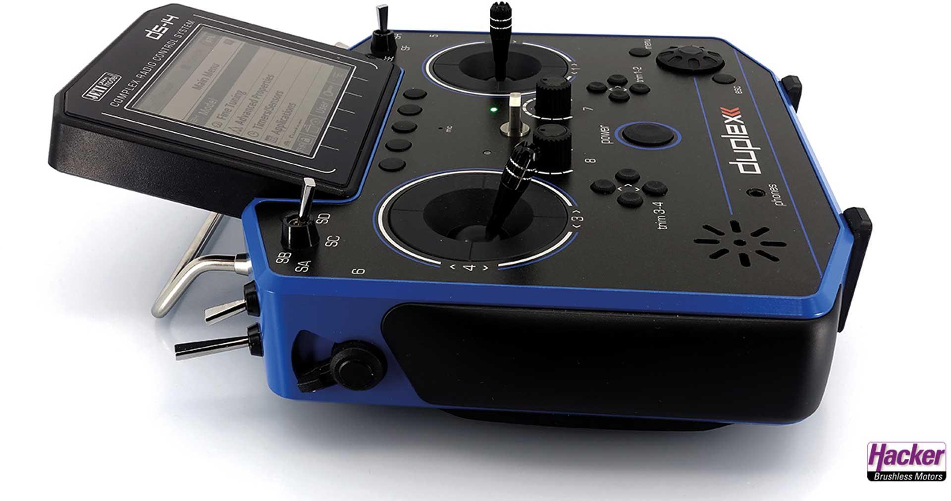 JETI DS-14 II Blau Handsender Multimode 2,4Ghz Fernsteuerung