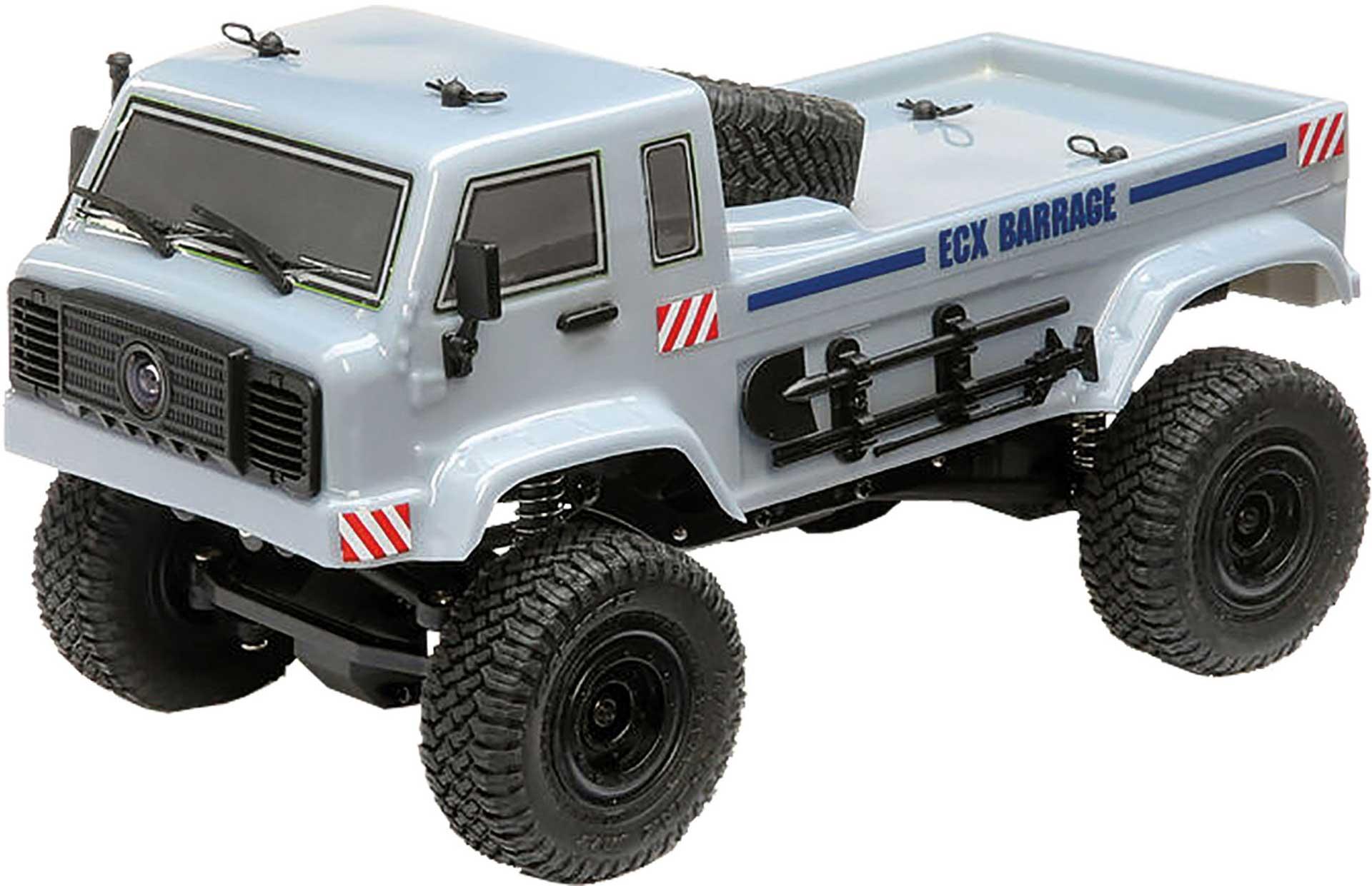 ECX BARRAGE UV 4WD SCALER CRAWLER RTR FPV 1/24 GRAU