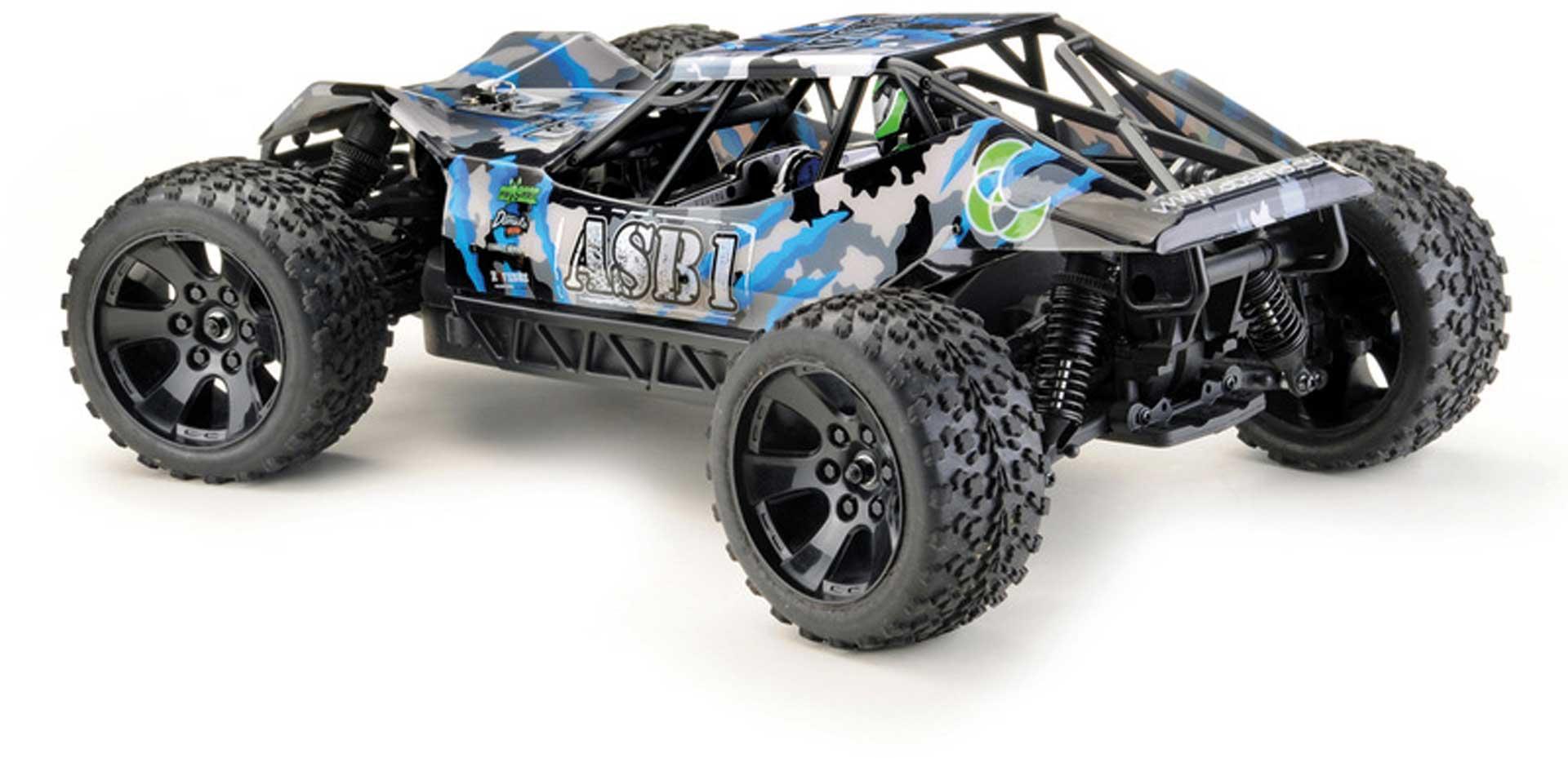 Absima Sand Buggy ASB1 CAMOUFLAGE-BLAU 1/10 4WD RTR Waterproof (inkl. Akku & Lader)
