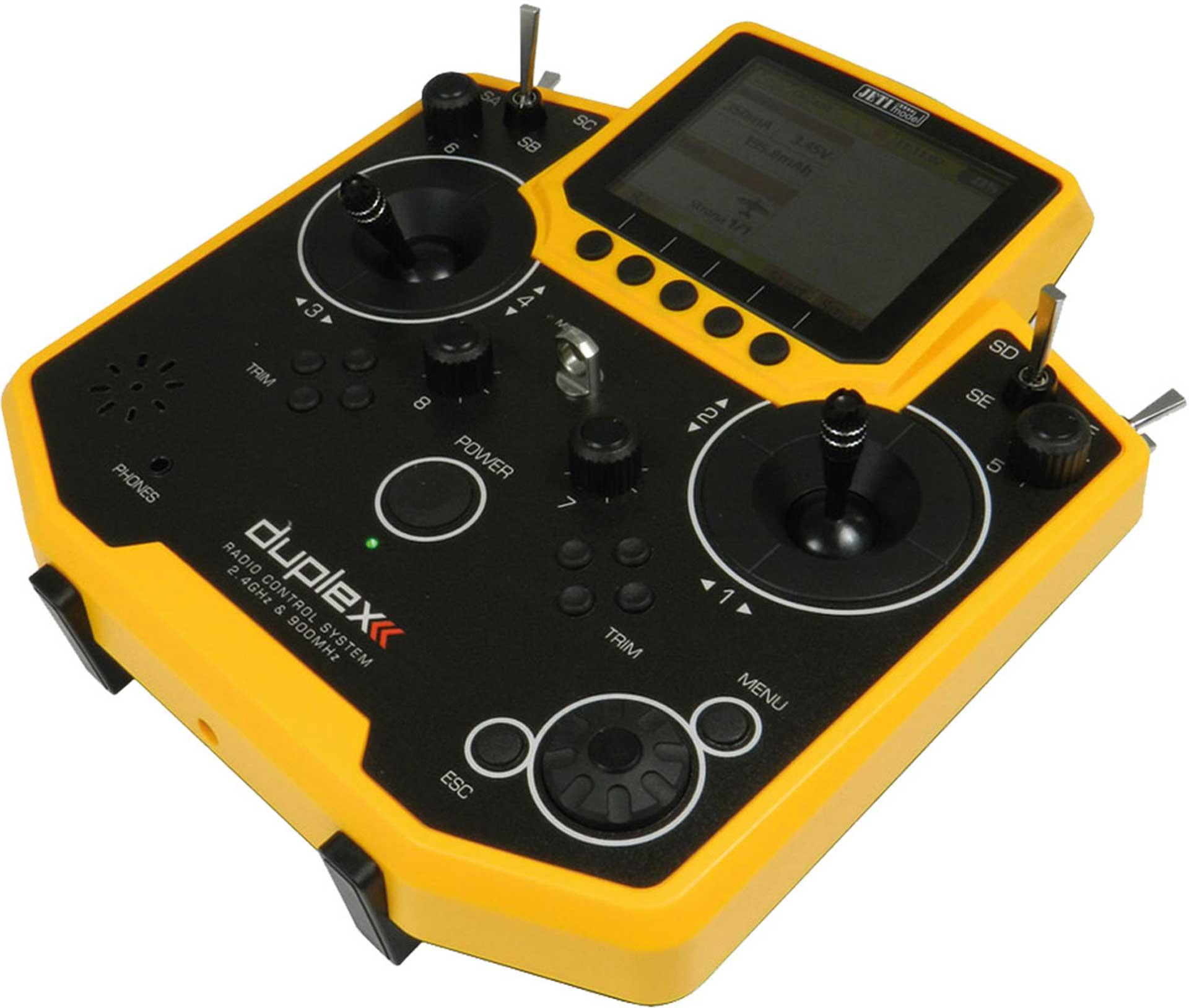 JETI DS-12 DUPLEX HANDSENDER GELB DUPLEX 2,4E 2,4Ghz FERNSTEUERUNG