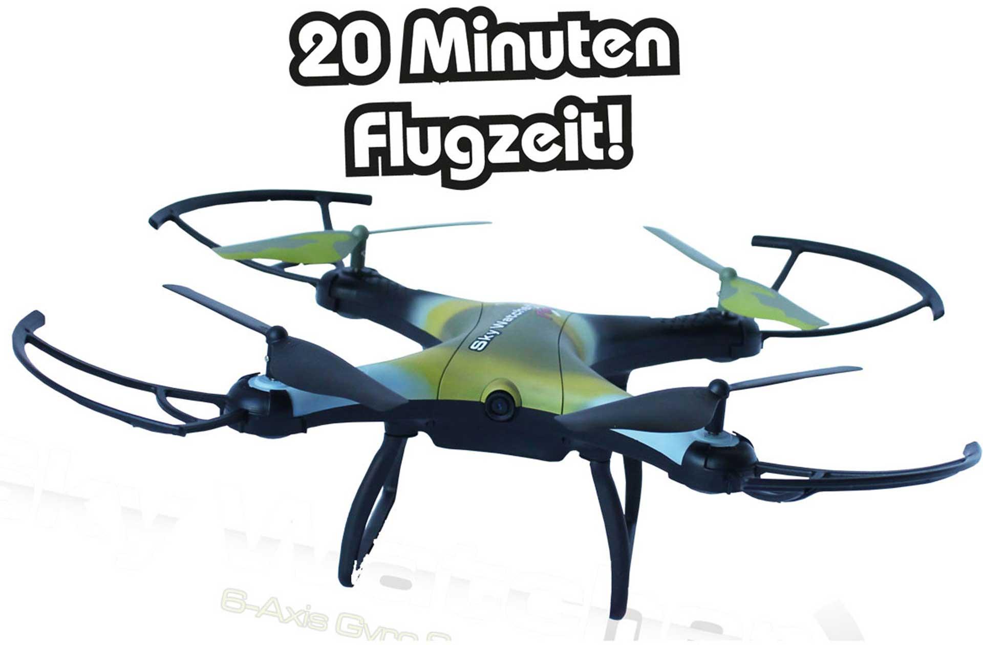 DRIVE & FLY MODELS SKYWATCHER FUN RTF + FPV 20MIN FLUGZEIT MIT GESTEN-STEUERUNG, WIFI, FPV