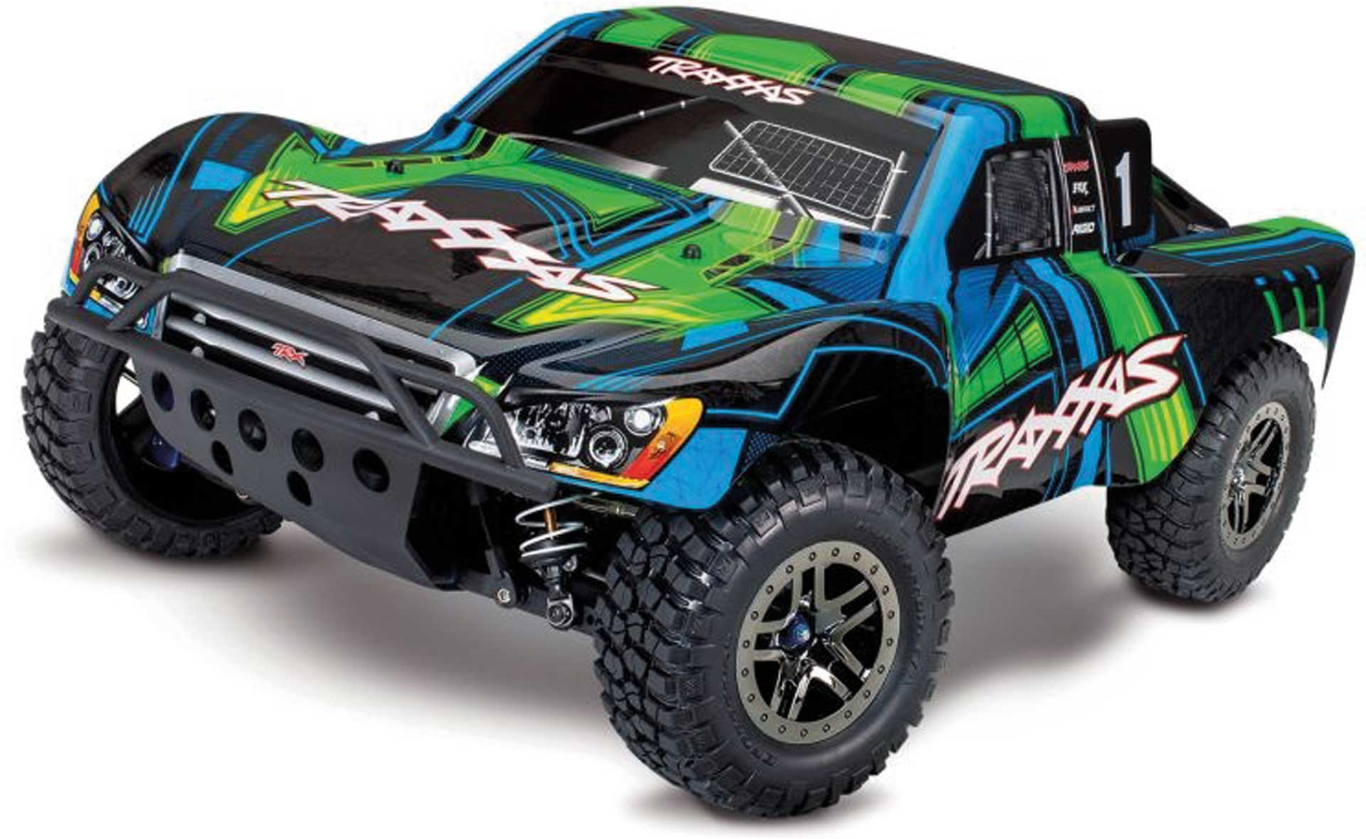 Traxxas SLASH 4X4 VXL ULTIMATE GRÜN RTR OHNE AKKU/LADE R 1/10 4WD SHORT-COURSE-RACE-TRUCK BRUSH