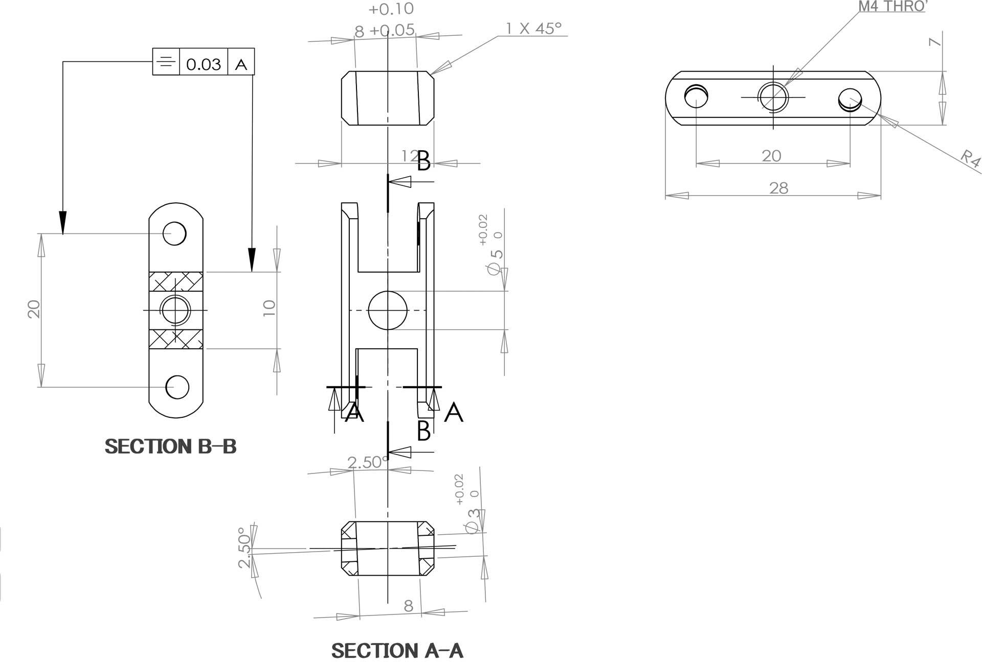 Robbe Modellsport avec telteil LS 3223/10, 20mm, 2,5°, 4mm