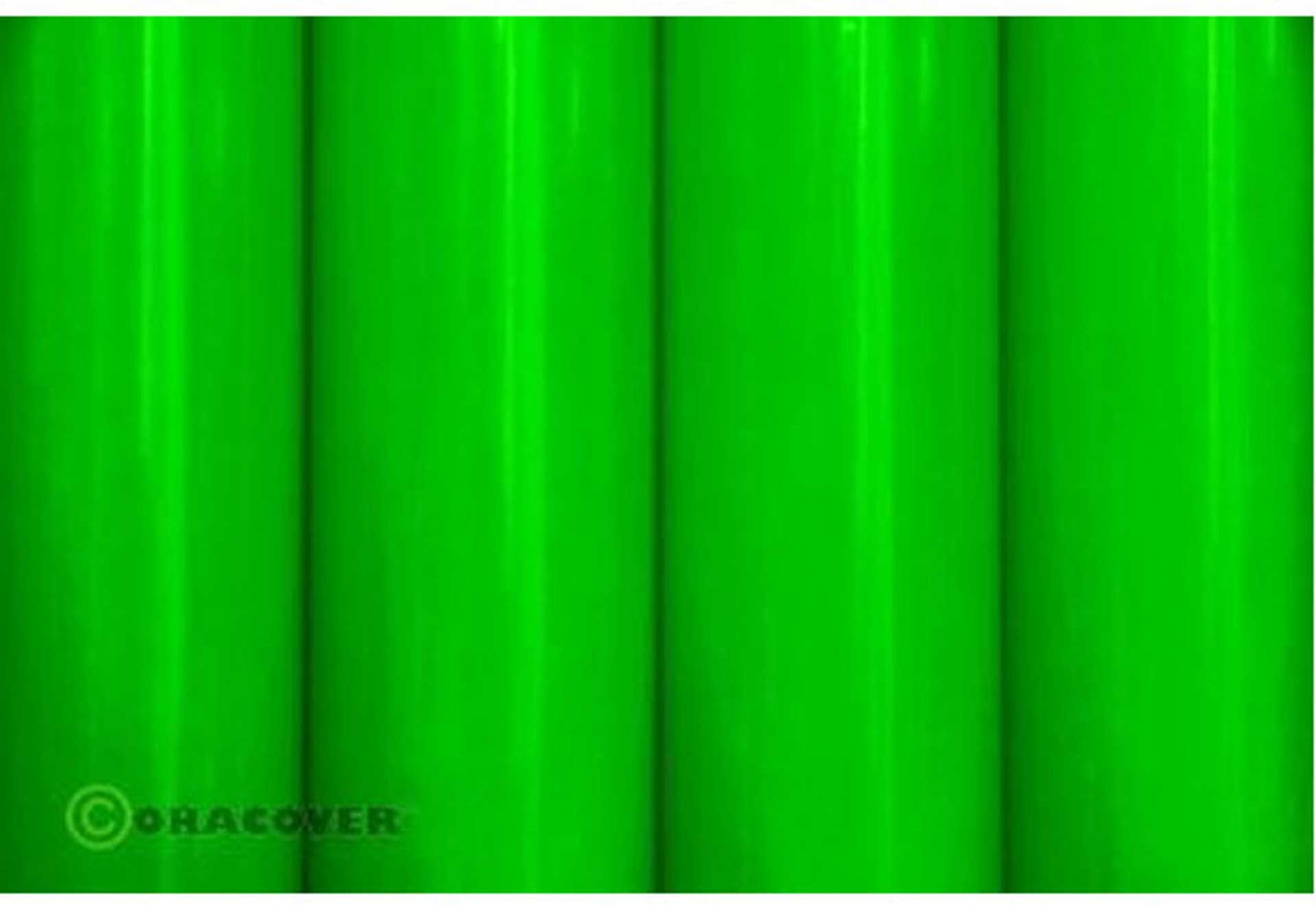 ORACOVER Adhesive Foil GREEN FLUORESCENT 3 Meter # 41 Orastick