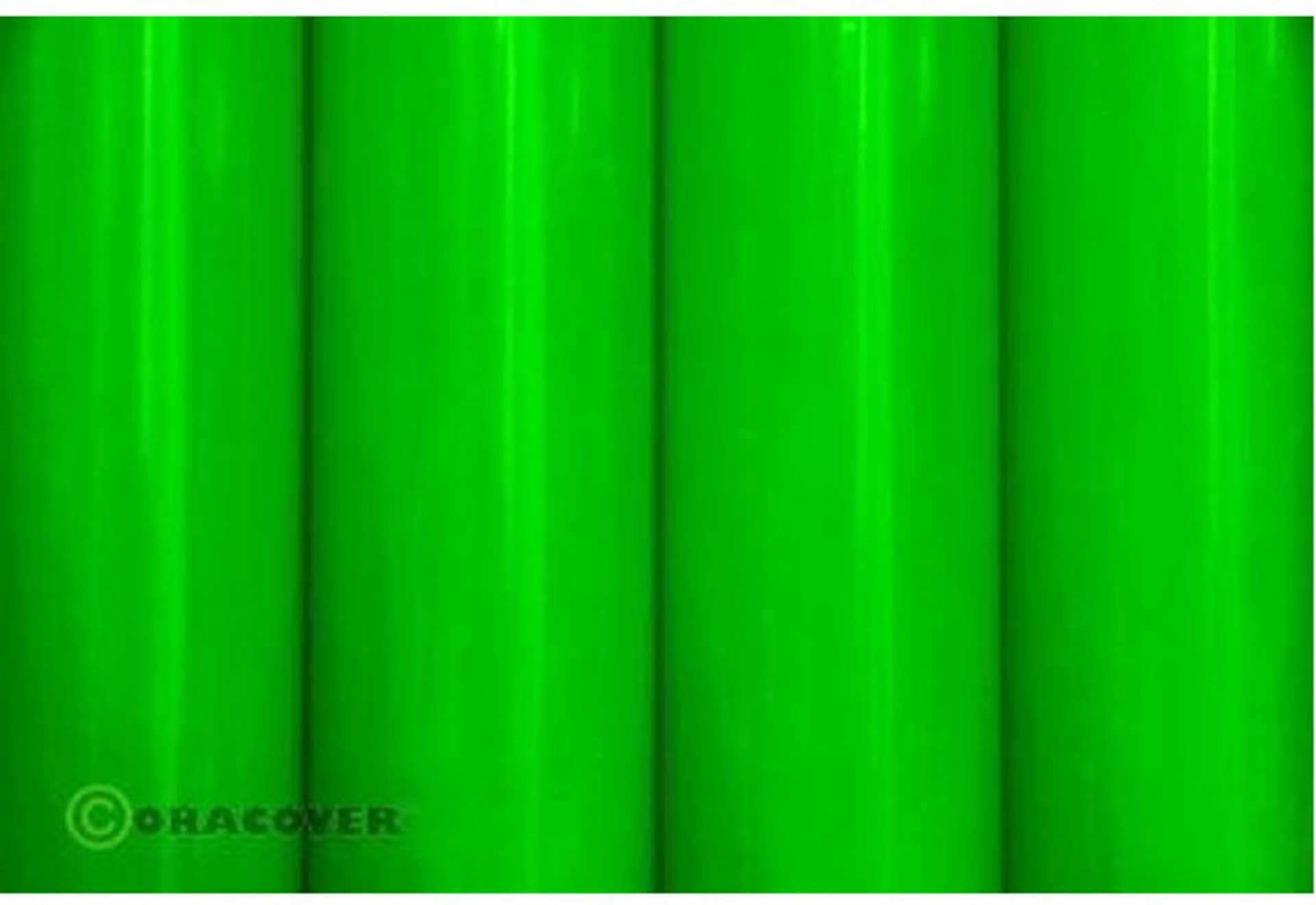 ORACOVER Klebefolie GRÜN FLUORESZIEREND 3 Meter # 41 Orastick