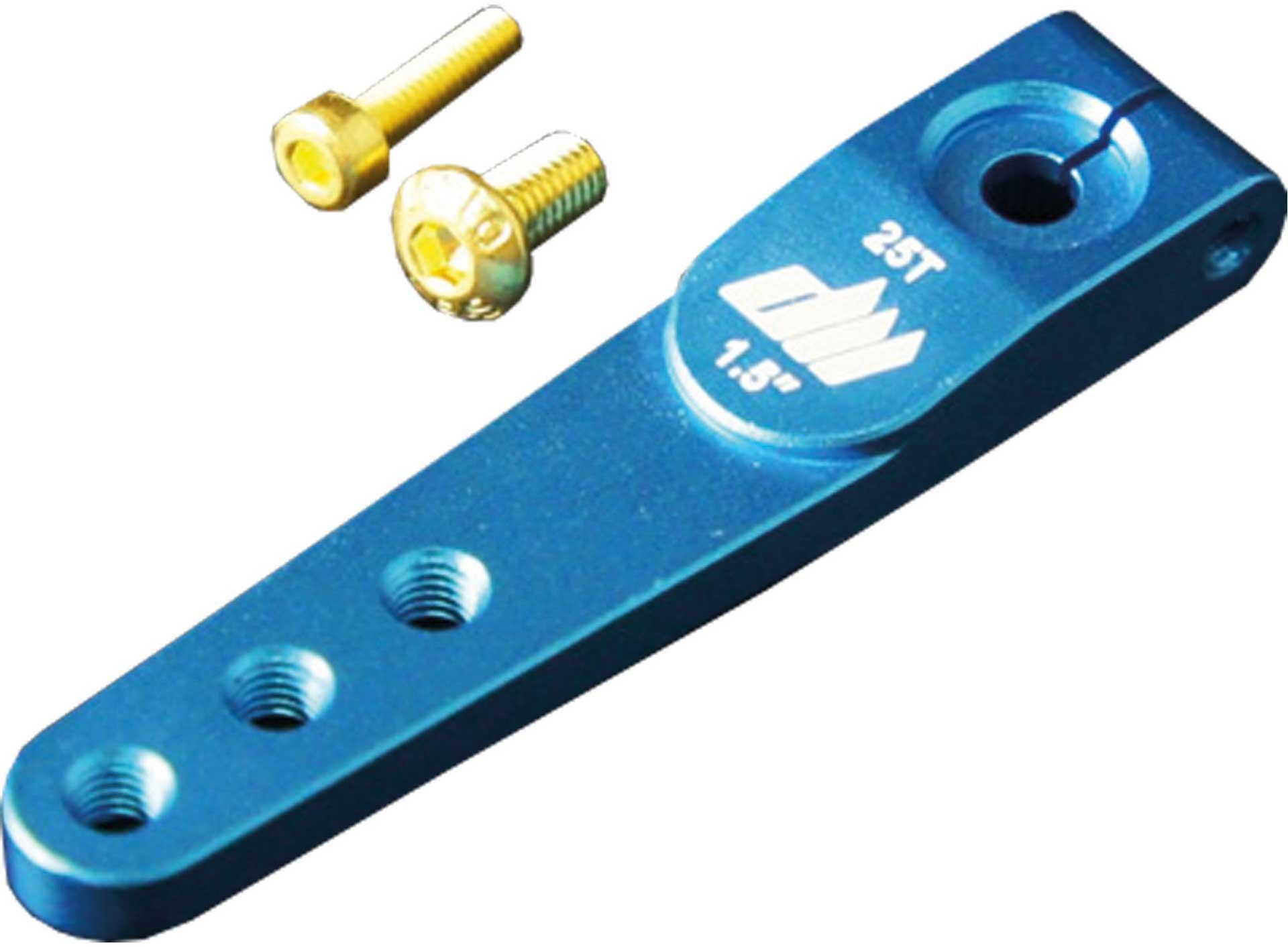 DUALSKY SERVO LEVER ALUMINIUM 25T 1-ARM 25/19MM M2,5 BLUE