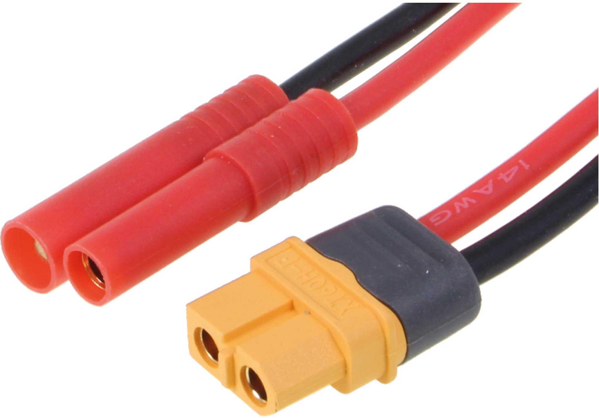 Robbe Modellsport Ladekabel für ISDT/SKYRC 4MM Goldkontakt Stecksystem 1X Stecker, 1X Buchse Ladegerätseite = XT-60 Buchse,500MM, 14AWG 1Stk.