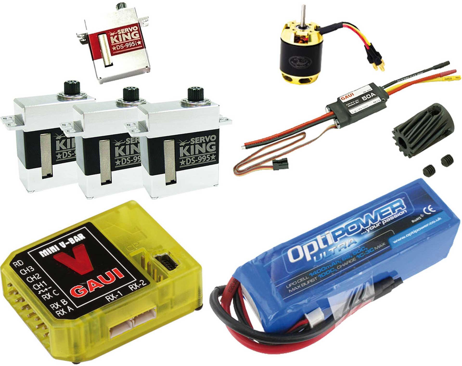 DIVERSE X3 /450 ELEKTRONIKSET ServoKing ANTRIEBSSET GAUI X3 ODER ÄHNLICHE 450ER