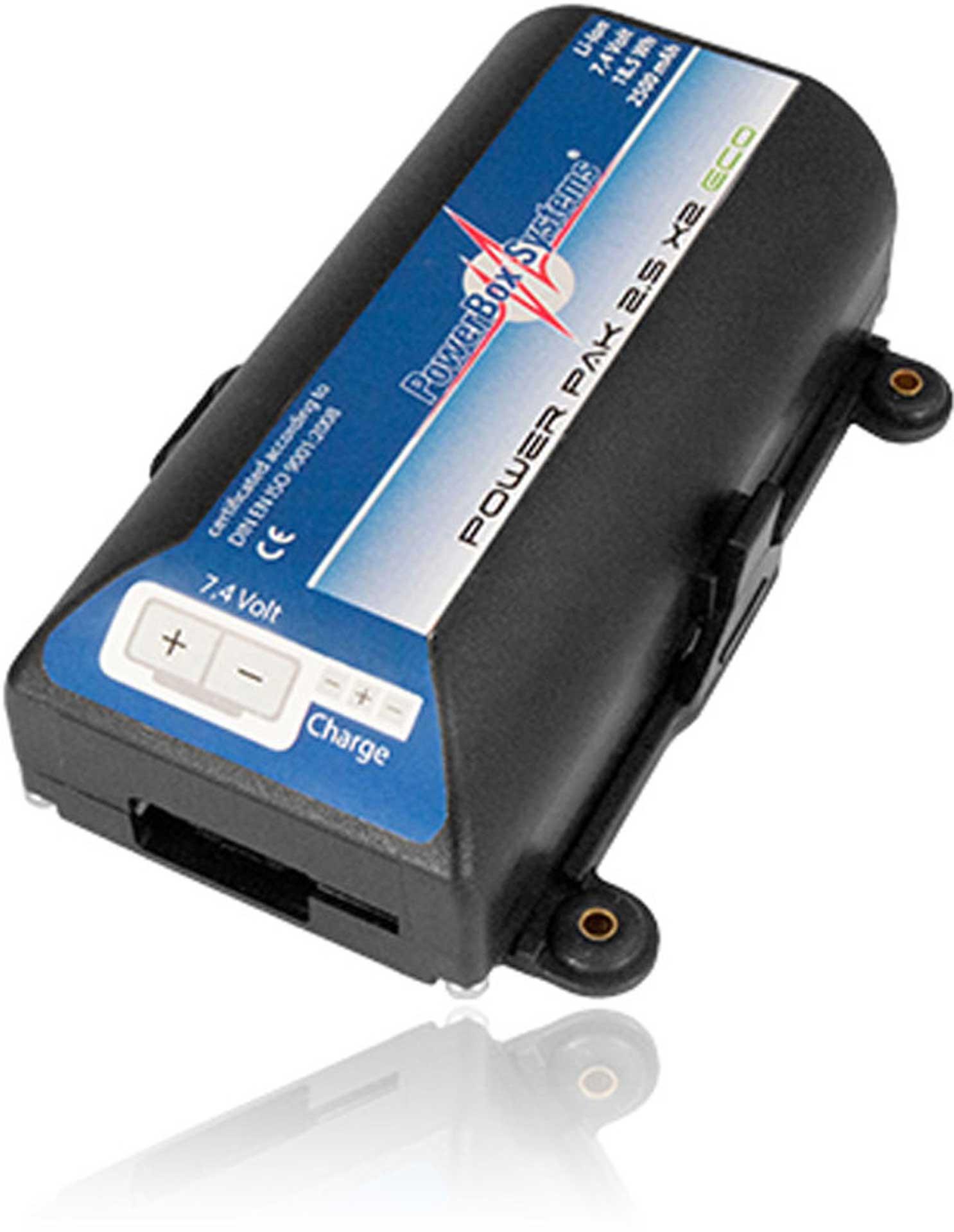 POWERBOX SYSTEMS POWERPAK 2.5X2 ECO 2500MAH 7.4V