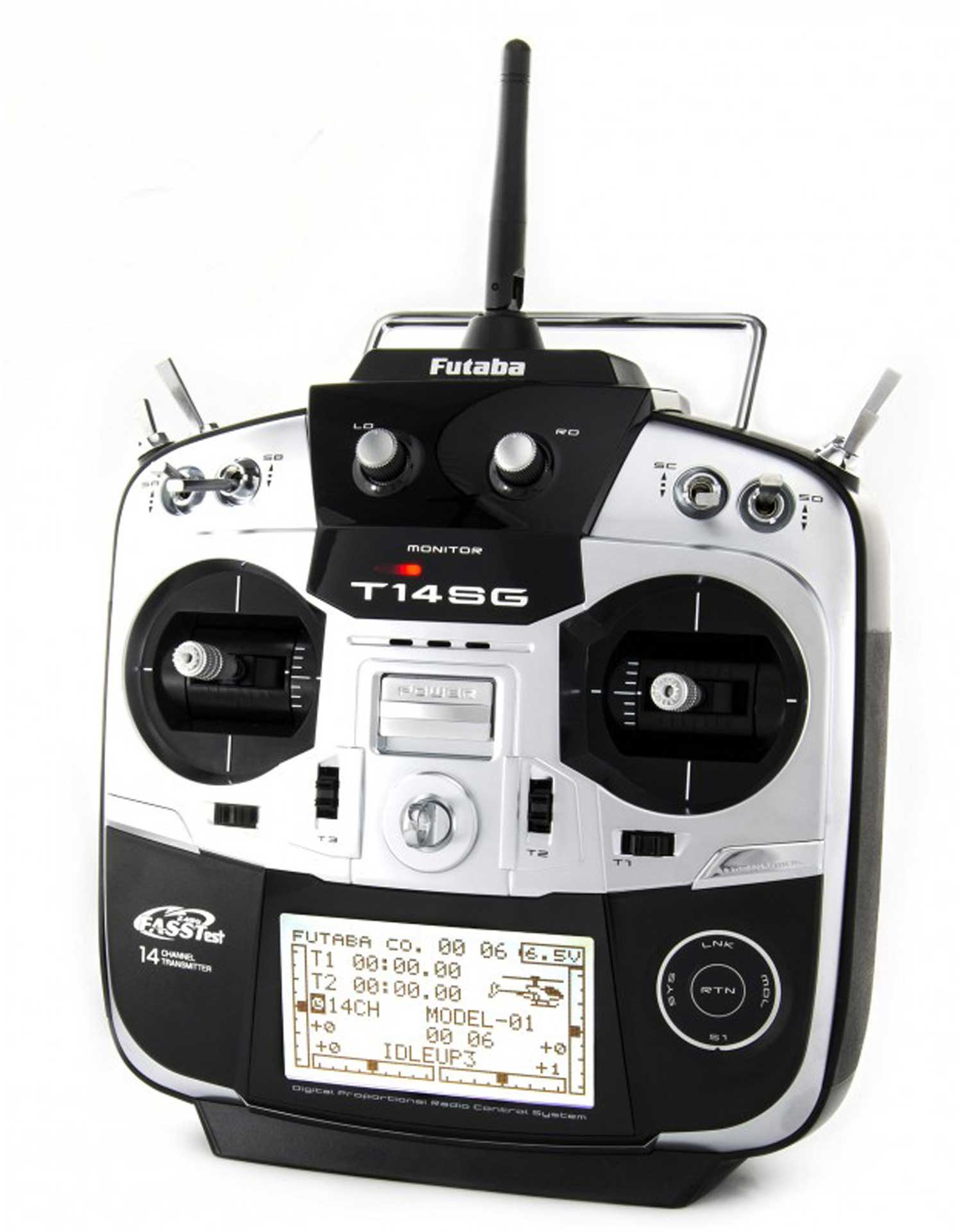 FUTABA T14SG BARREL TEST MODE 1 WITH R7008SB RECEIVER AND NIMH TRANSMITTER BATTERY, R