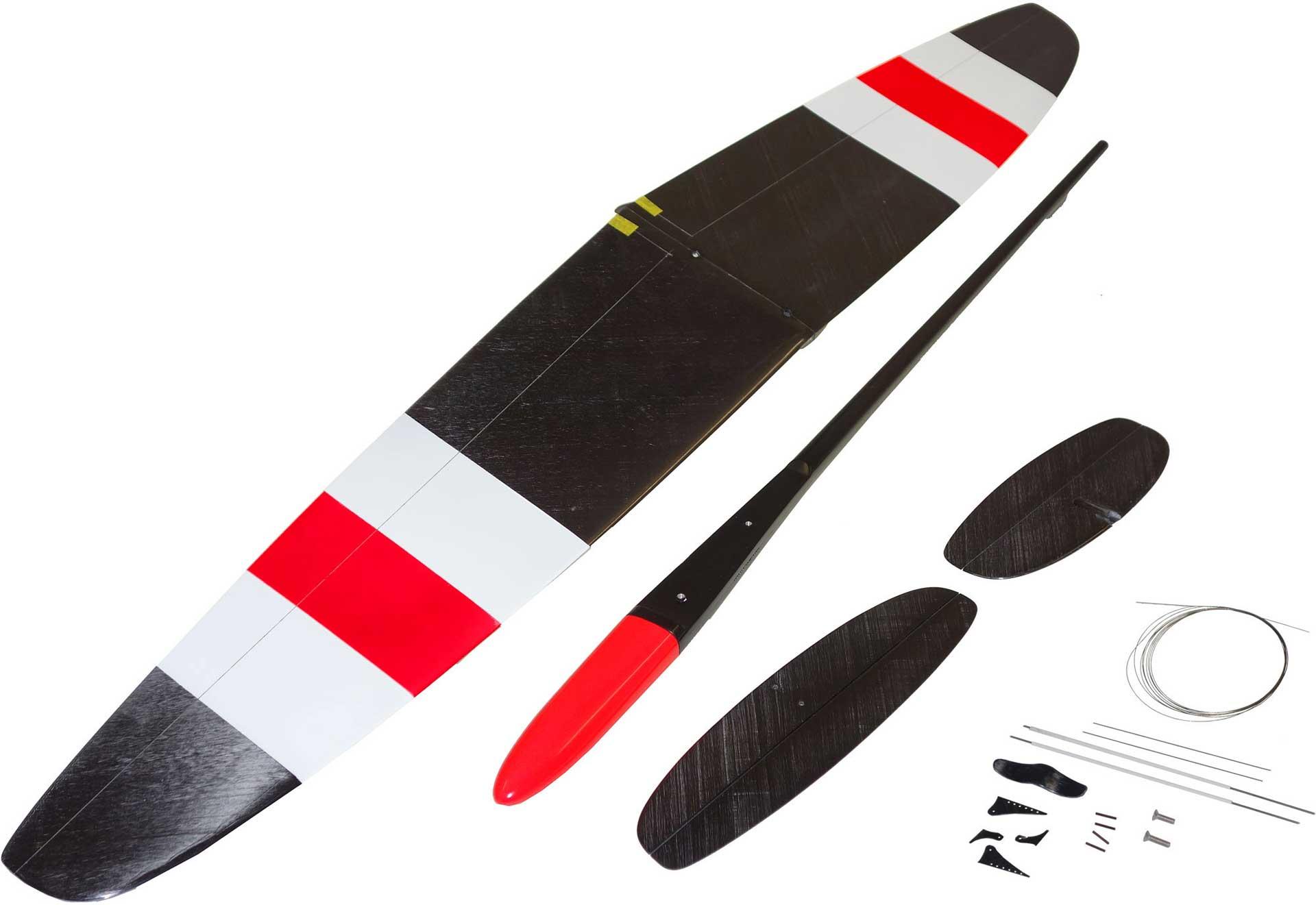 """OA-Composites Strike 3 Mini DLG Schleudersegler Farbe # E (""""Gears"""")"""