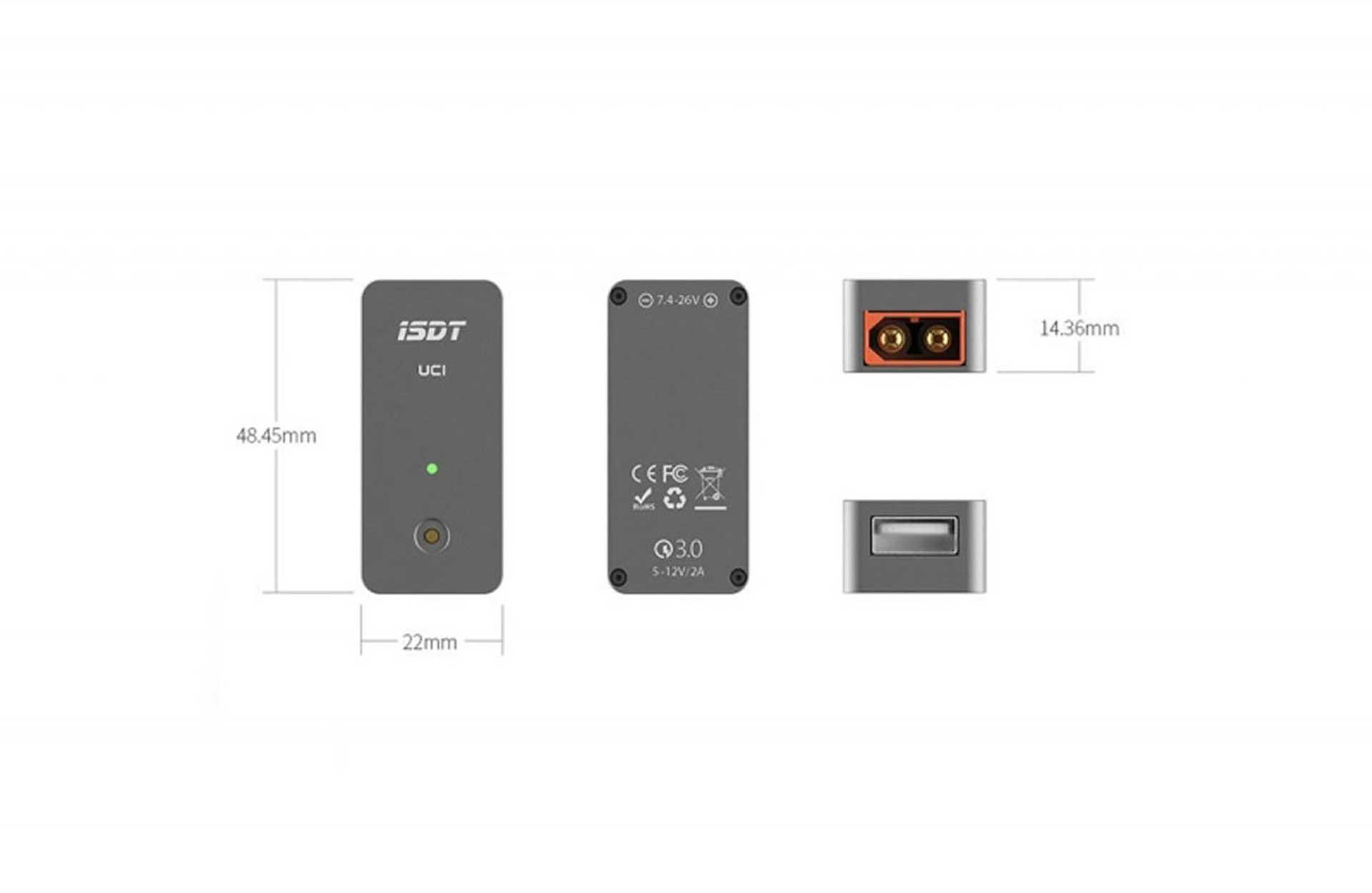 ISDT UC1 USB QUICK CHARGER 2-6S INPUT Ladegerät