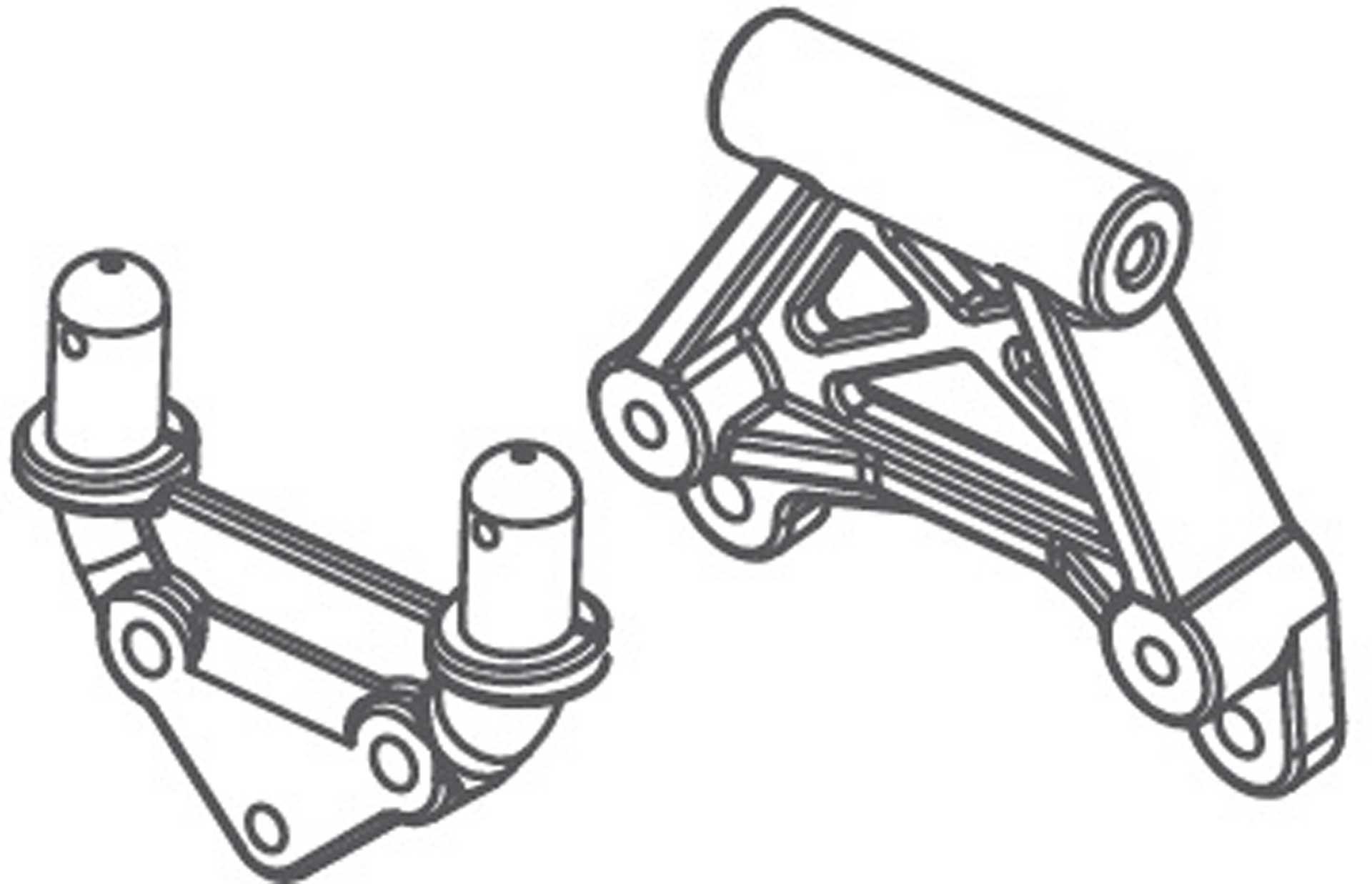 Absima Karosseriehalter-Set