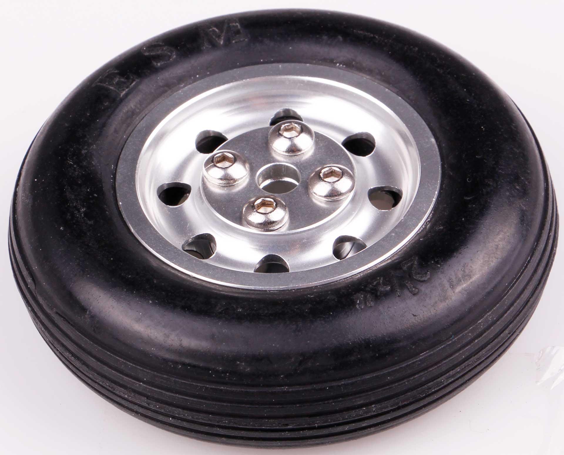 Robbe Modellsport Roue ø65x20mm ø5mm axe de roue avec jante en aluminium 48 Gramm 1Stk.