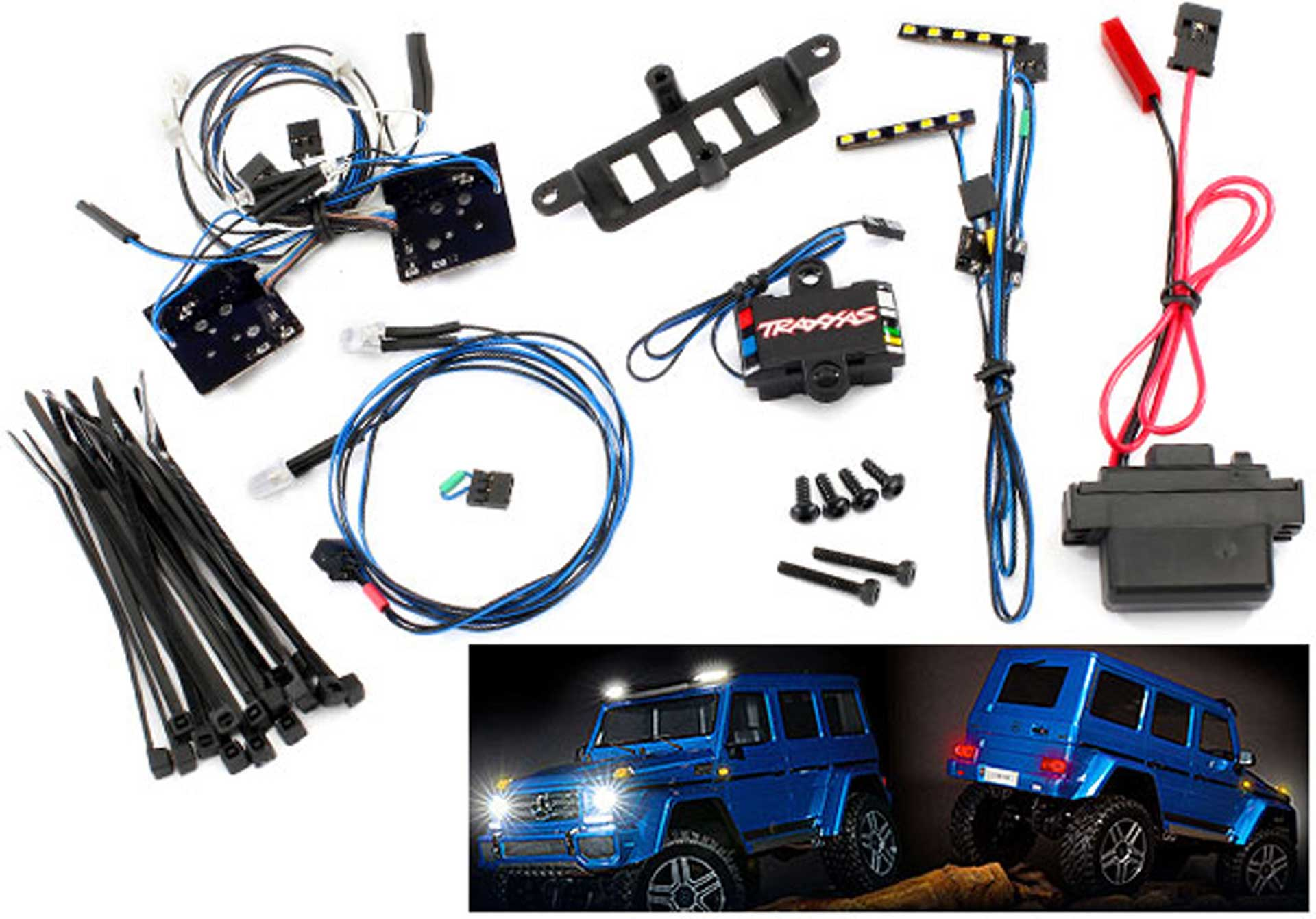 TRAXXAS LED Licht-Set kpl mit Power-Supply für #8811 oder 8825 Karo