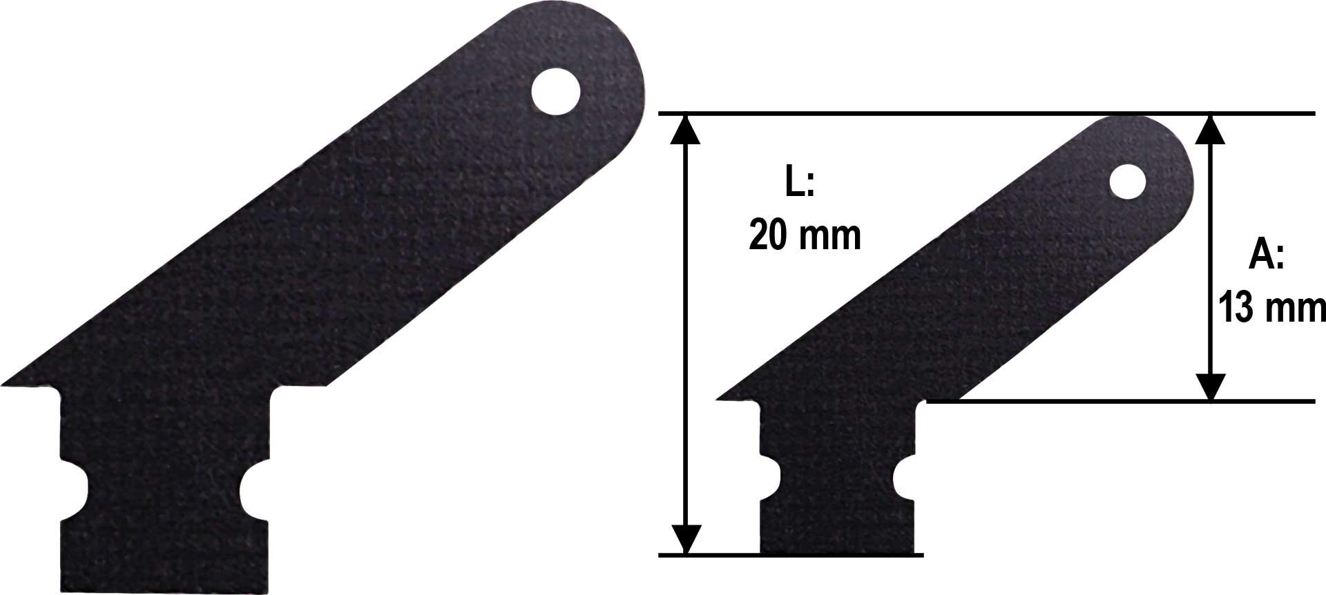 MODELLBAU LINDINGER GFK Ruderhorn 10mm Set 10Stk. 1,0mm GFK schwarz
