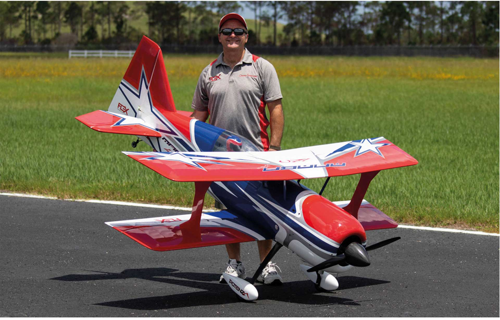 PREMIER AIRCRAFT MAMBA 120CC BLAU ARF DOPPELDECKER