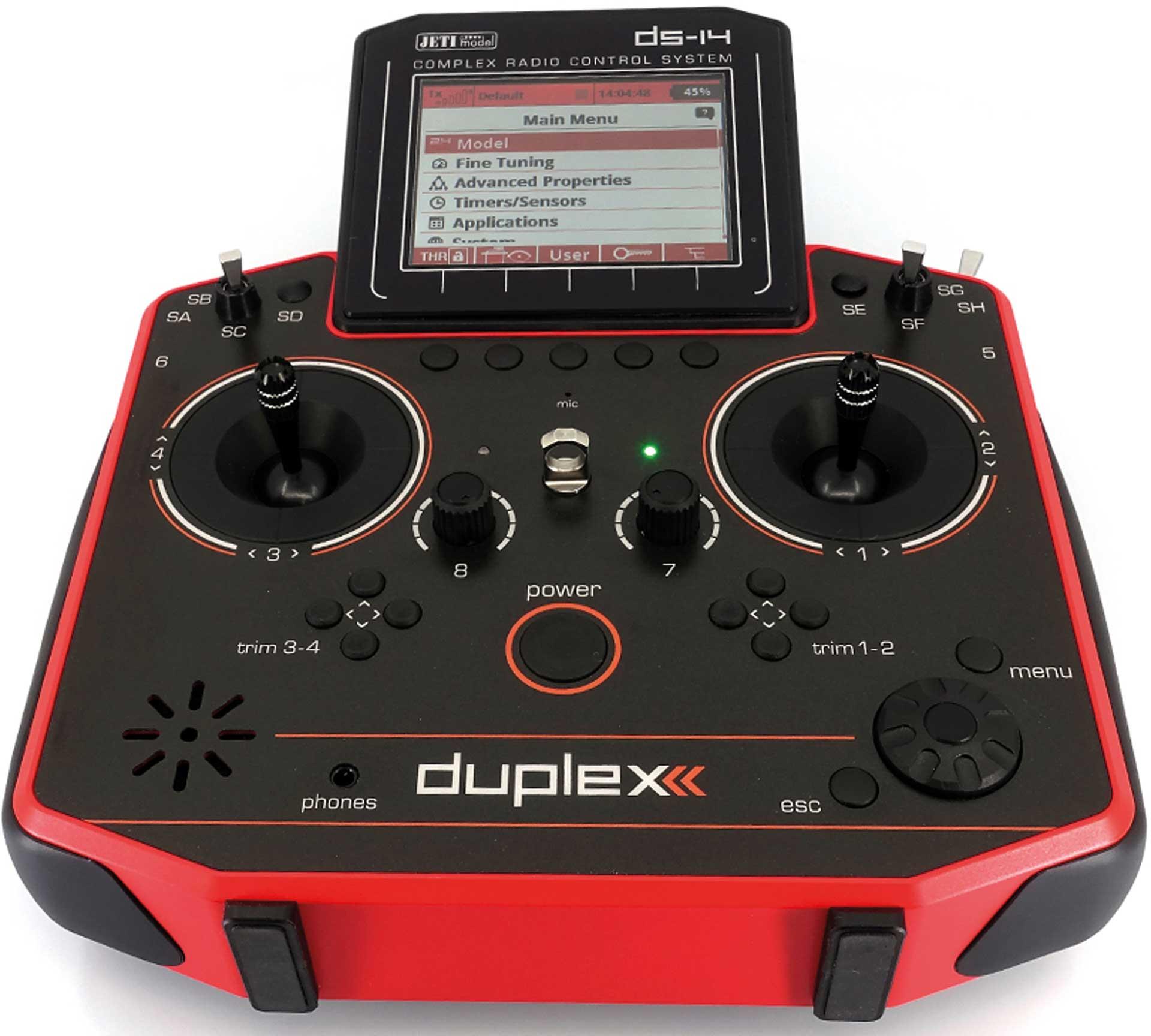 JETI DS-14 II Rot Handsender Multimode 2,4Ghz Fernsteuerung
