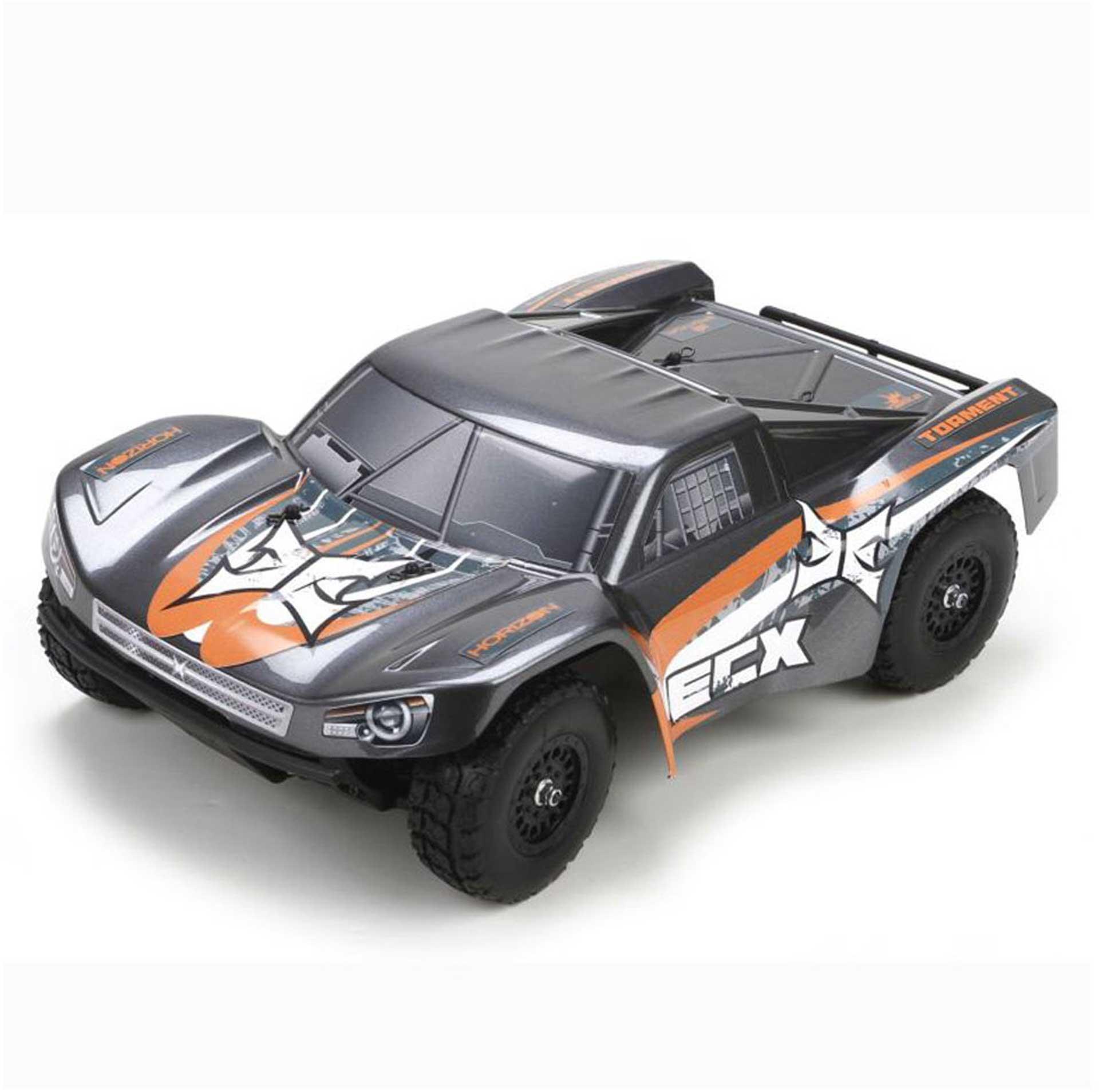 ECX TORMENT 4WD SHORT COURSE TRUCK RTR GRAU/ORANGE