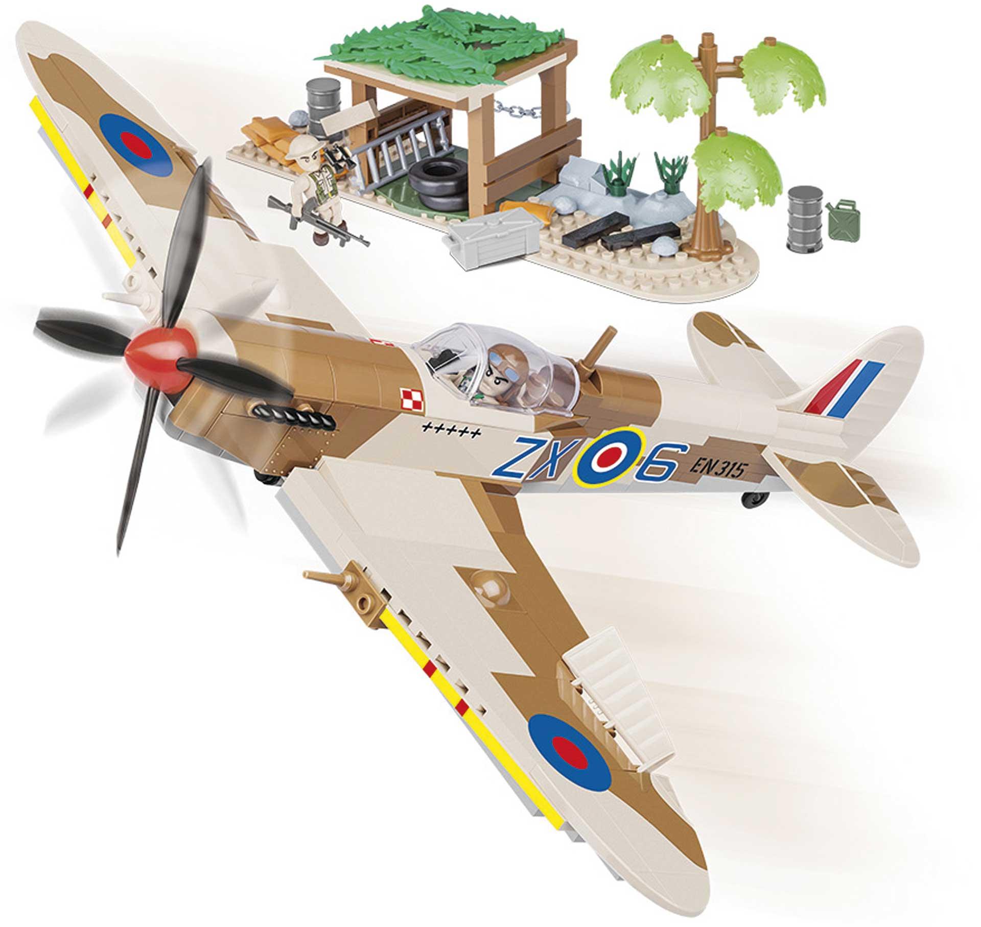 COBI Supermarine Spitfire Desert Airstrip (400 Teile) Klemmbausteine