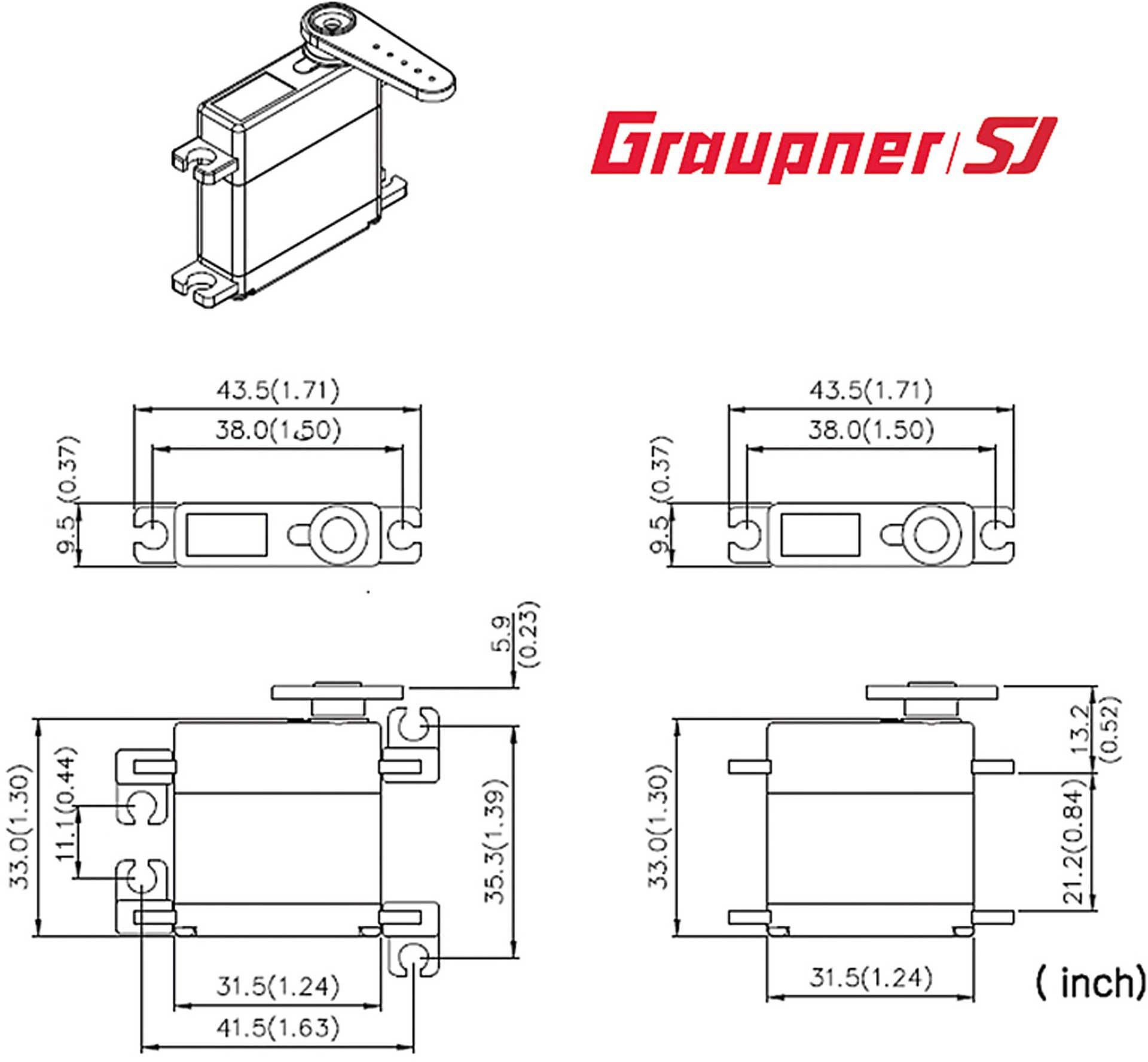 GRAUPNER DES 448 BB MG DIGITAL FLÄCHENSERVO